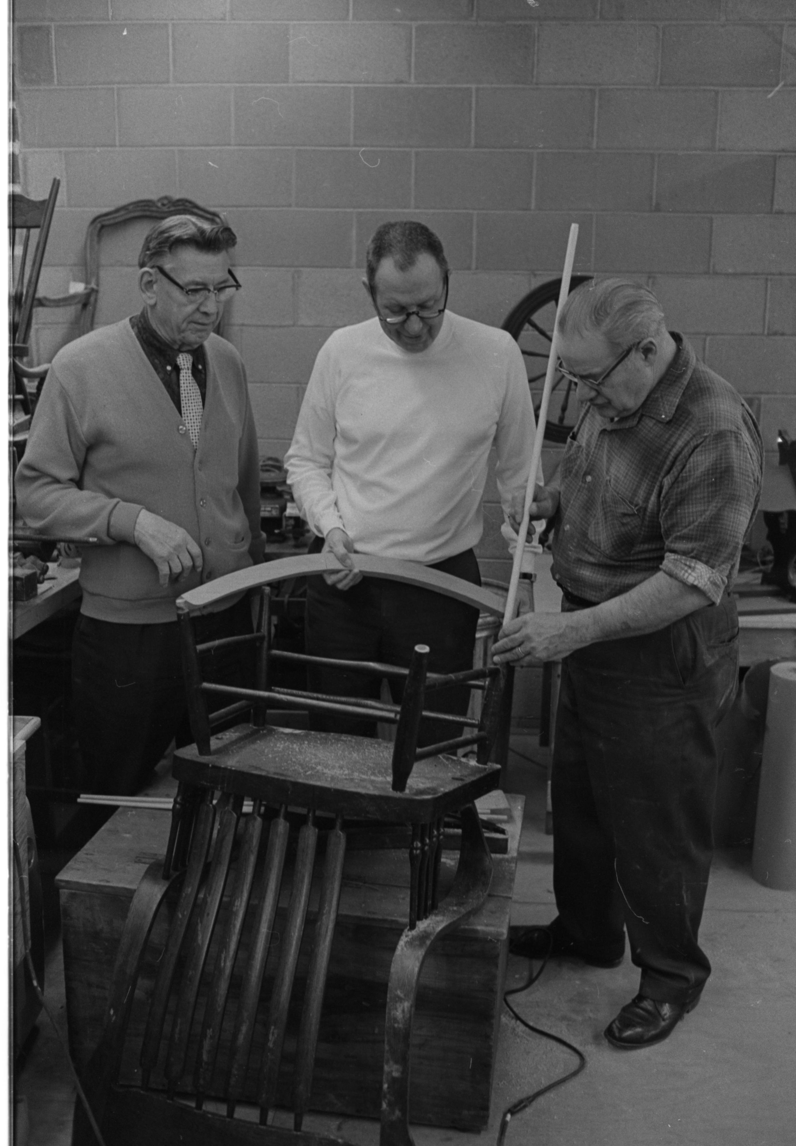 Kiwanis Club Members Repair Toys And Furniture For Ann Arbor Public Schools March 1969