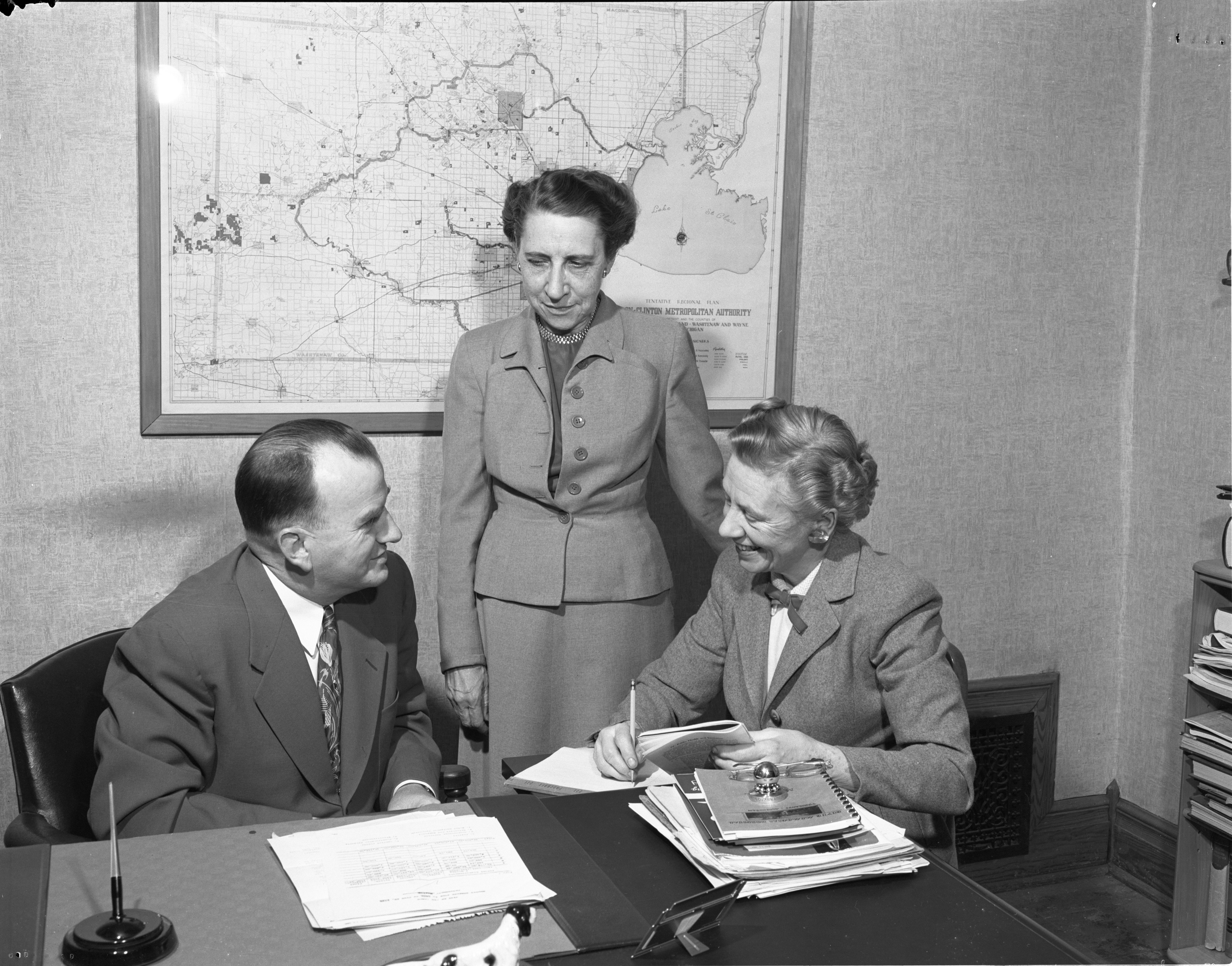 League Of Women Voters Members Interview Dr. Otto K. Engelke, May 1952 image
