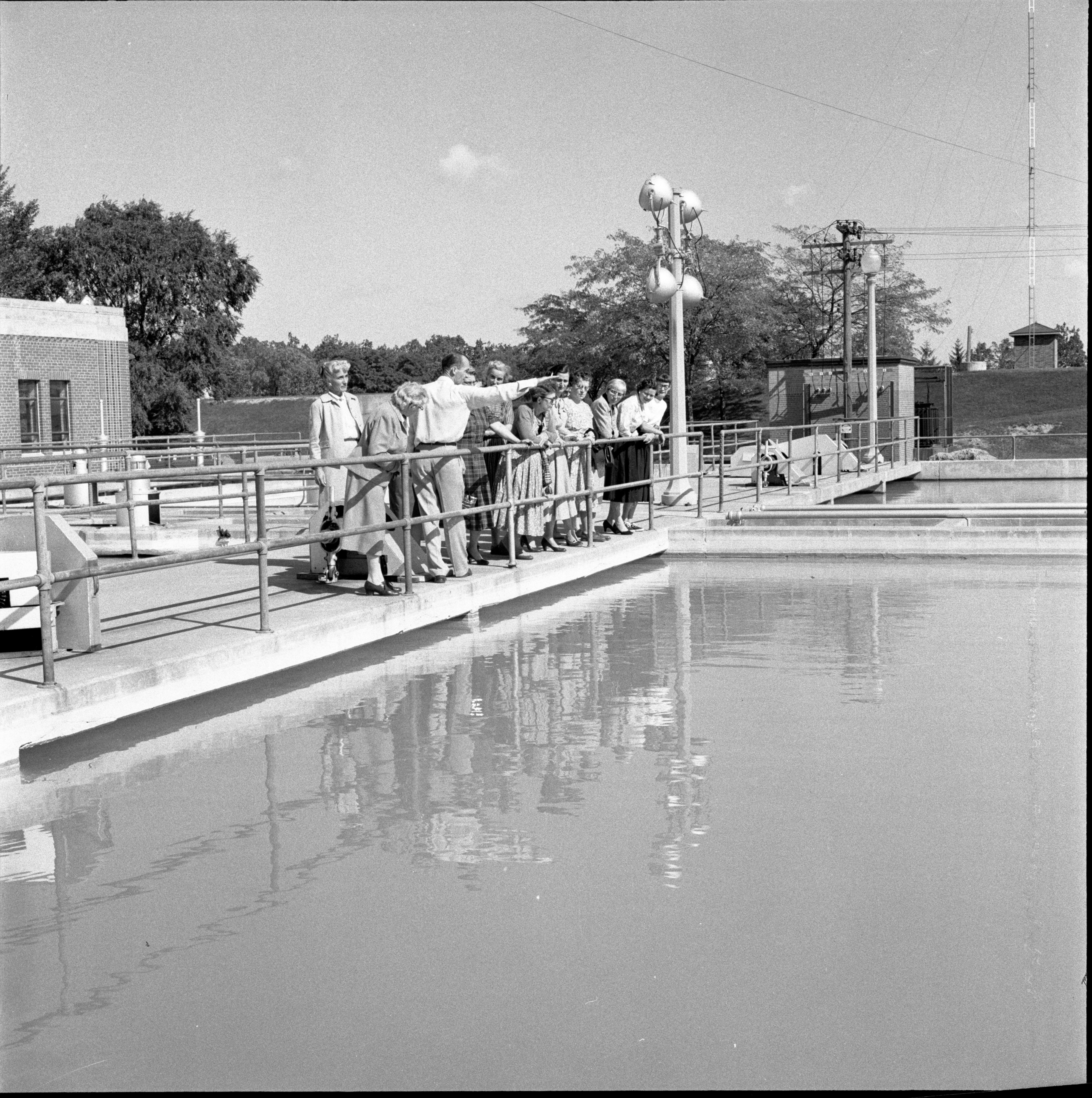 Members Of The Ann Arbor League Of Women Voters Tour The City's Water Softening Plant, October 1957 image