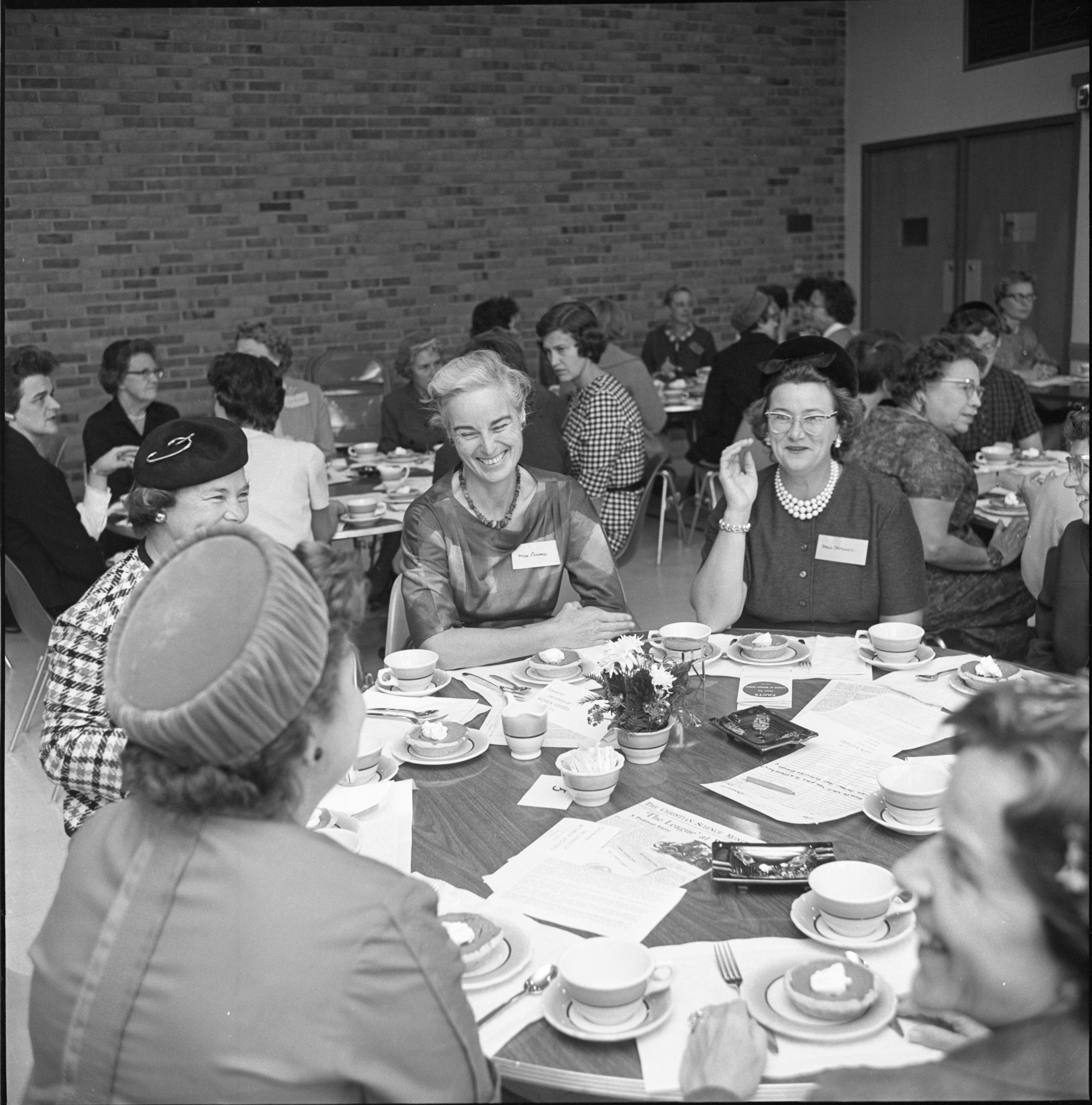 League Of Women Voters Members Enjoy Annual Membership Dessert, September 1962 image