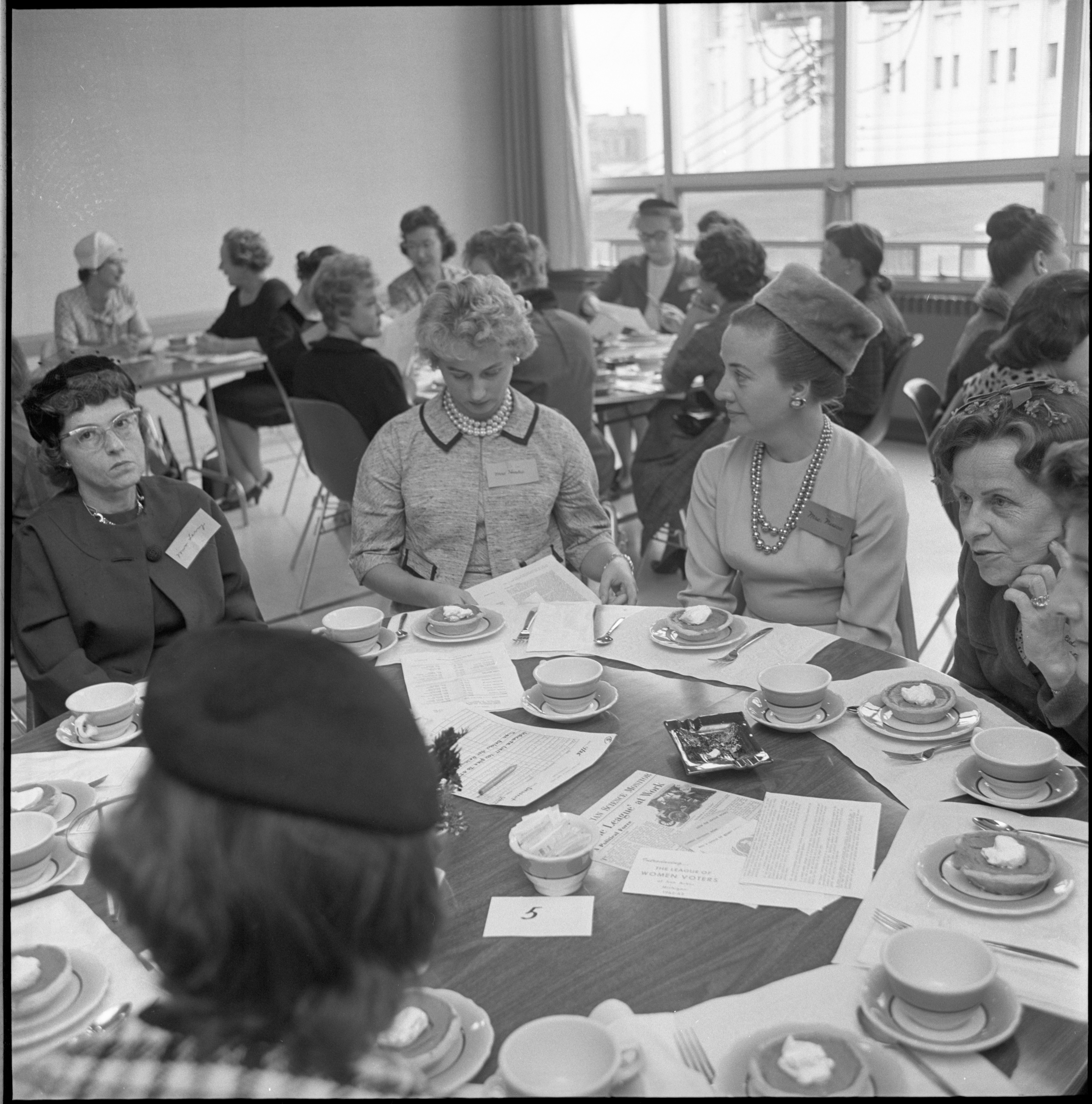 League Of Women Voters Annual Membership Dessert, September 1962 image