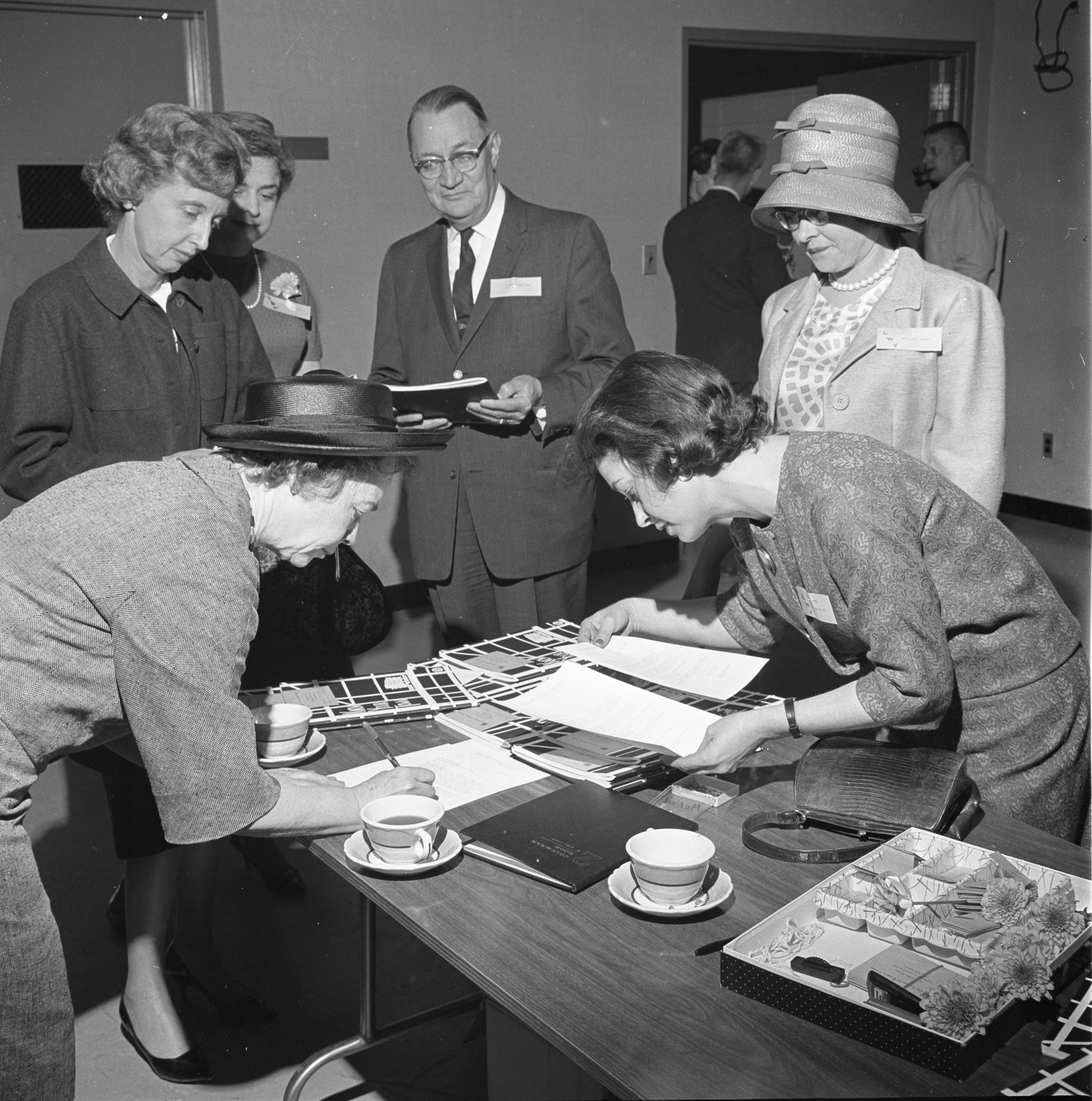 Cecil Creal & LWV Members At A League Of Women Voters Meeting, April 1963 image