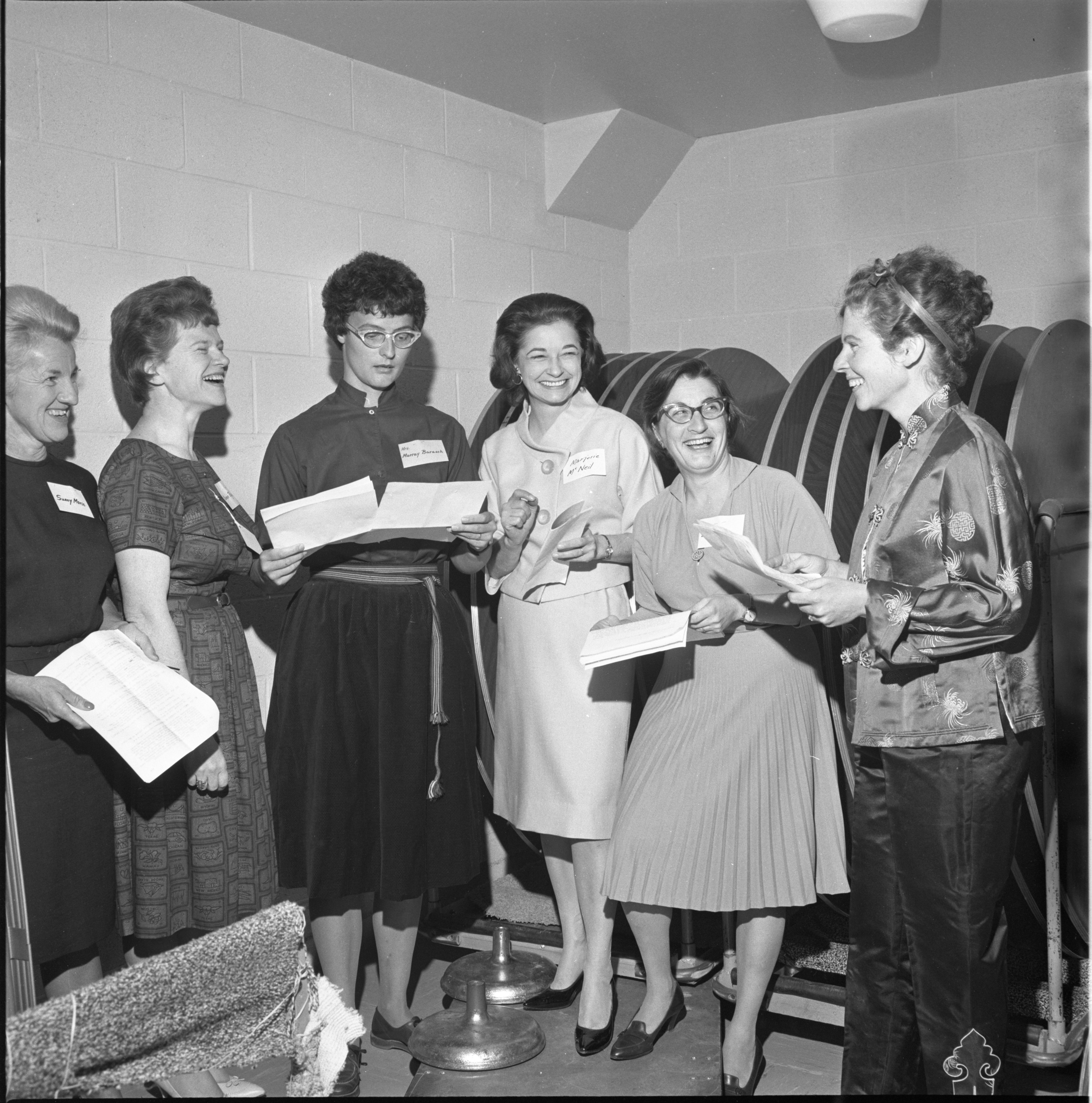 Ladies Enjoy The Conversation At The League Of Women Voters Membership Coffee, September 1963 image