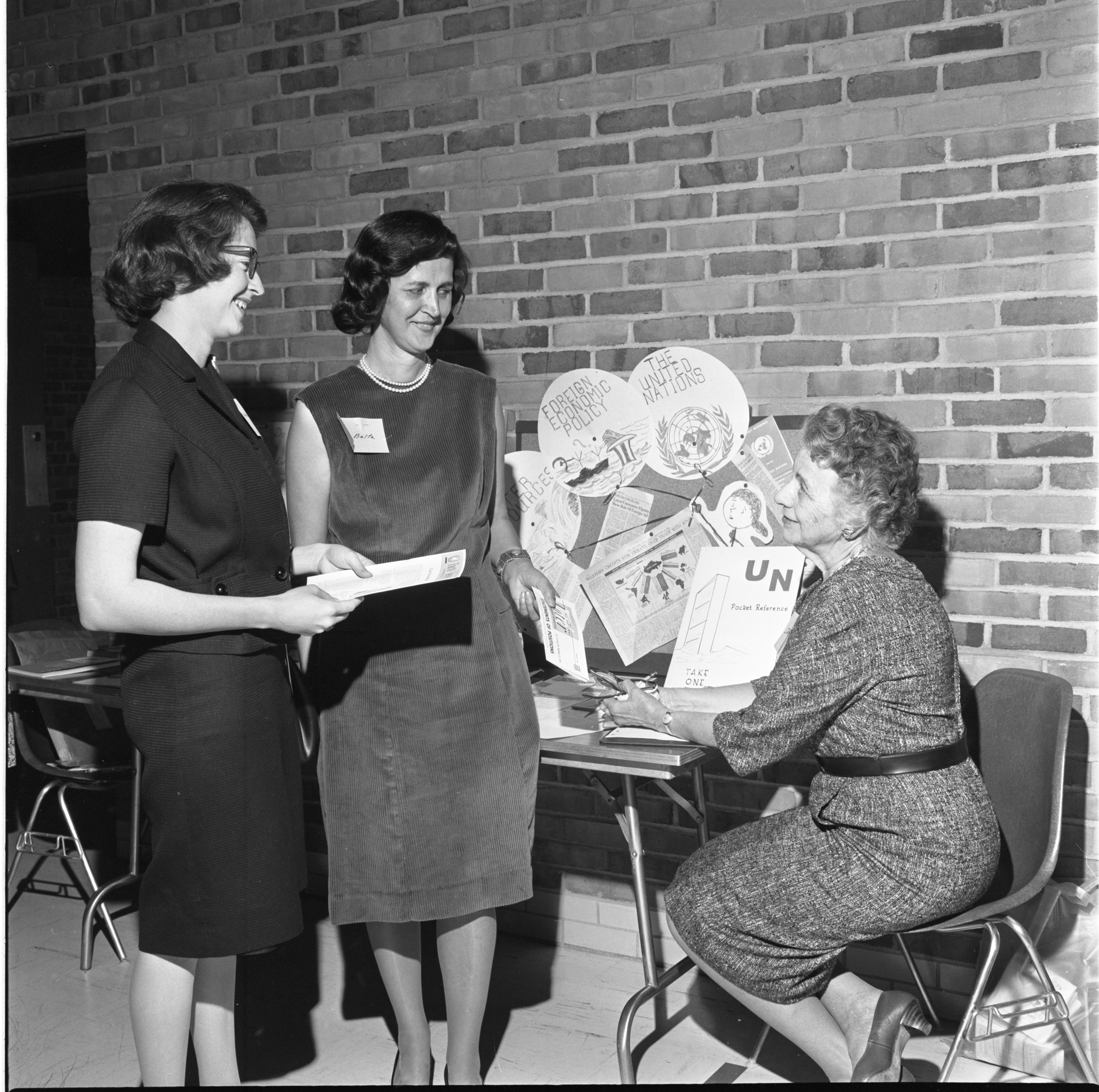 League Of Women Voters Members Discuss Study Groups, September 1964 image