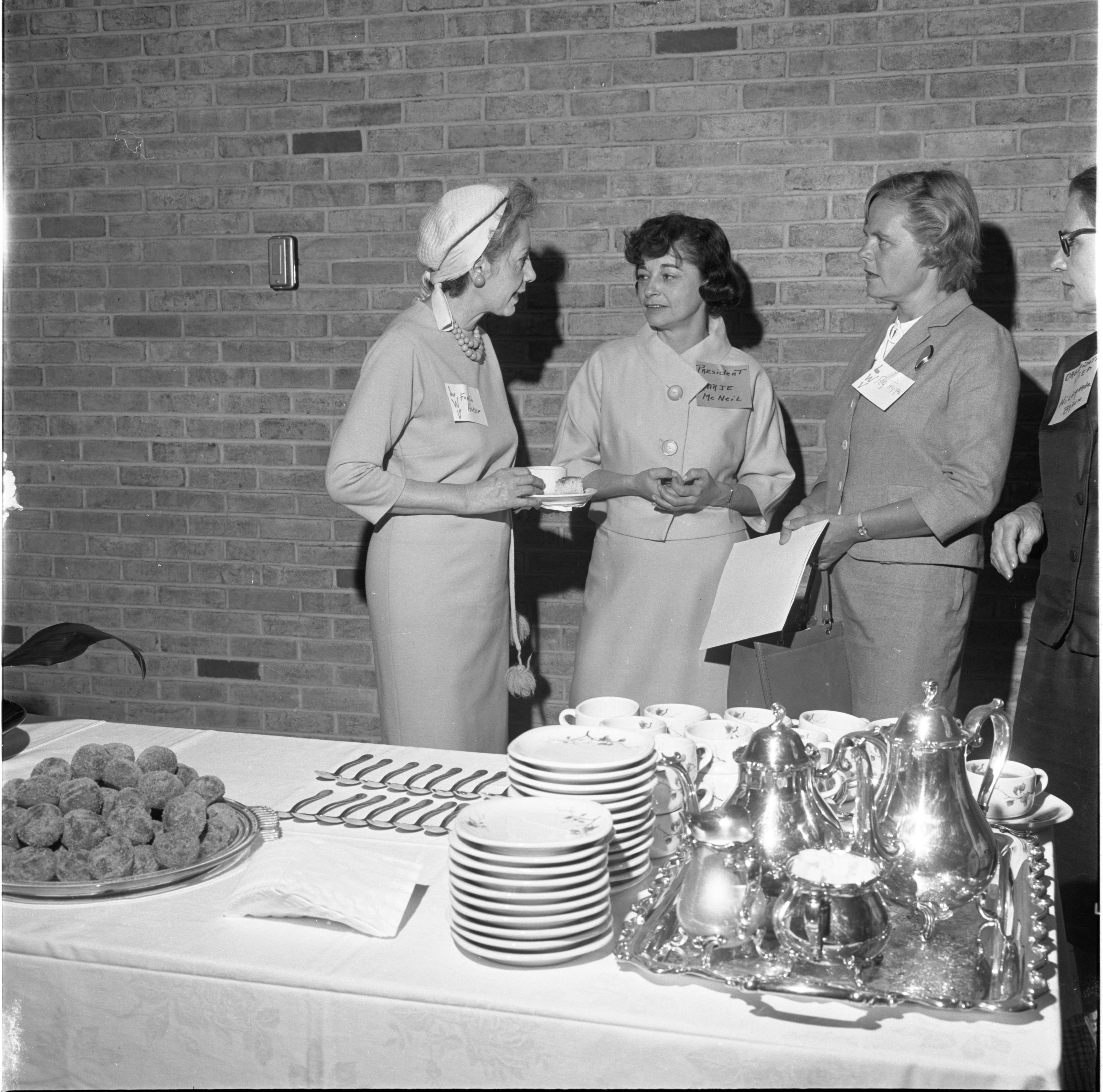 Ladies Chat At The League Of Women Voters Membership Coffee, September 1965 image