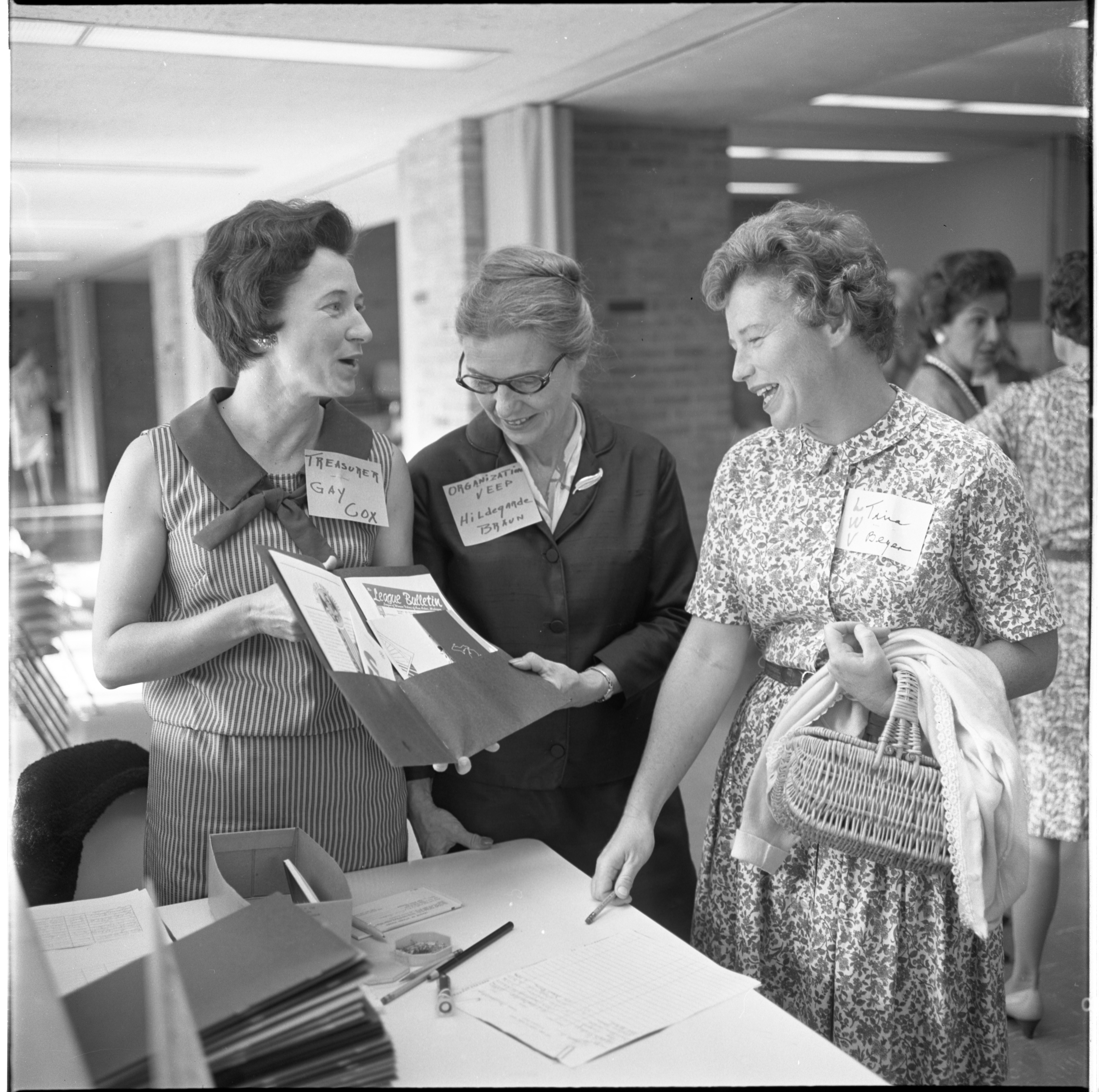 Tina Beyer Is Greeted At The League Of Women Voters Membership Coffee, September 1965 image
