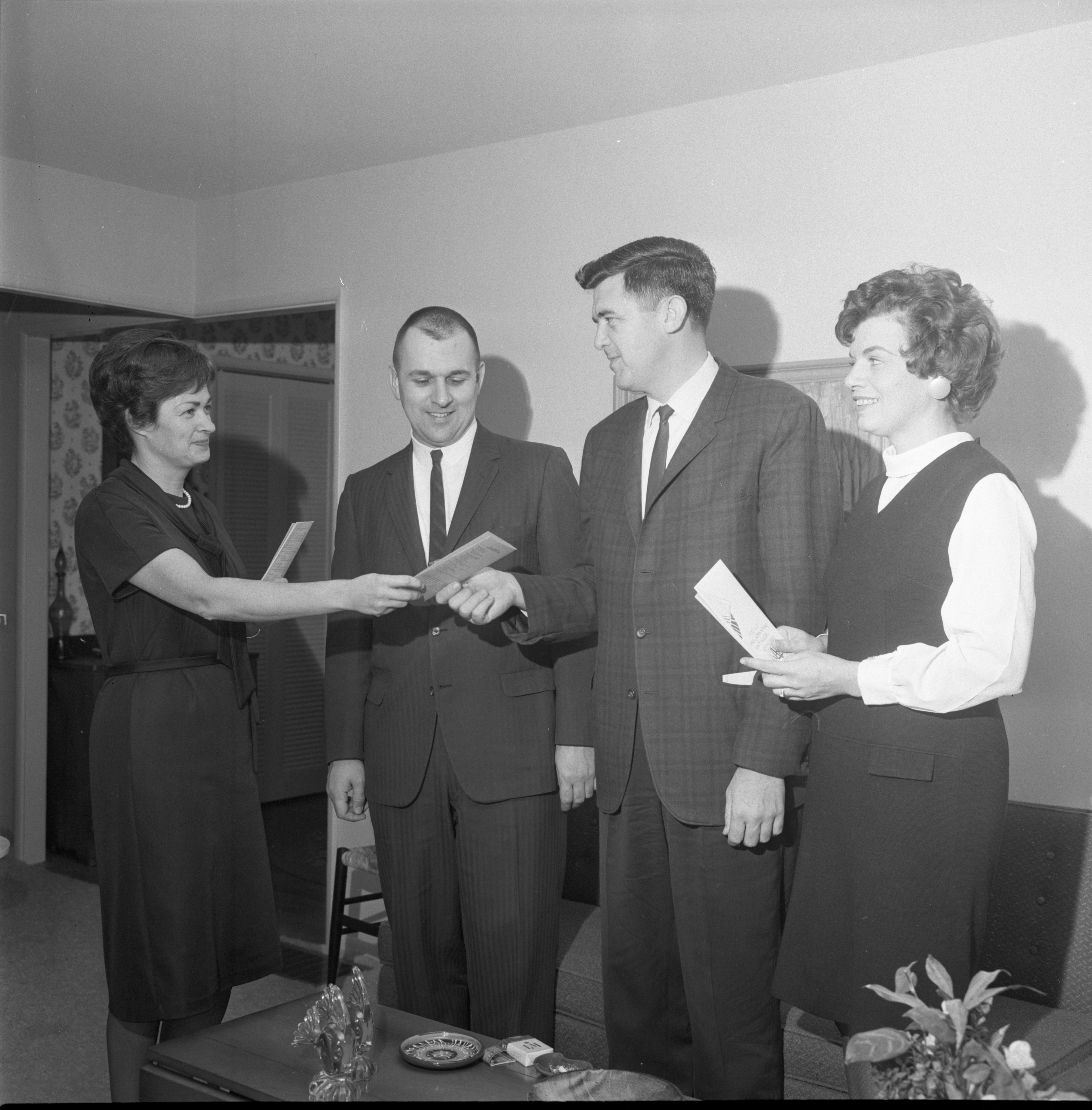 "City Councilmen Receive ""Your Government Officials"" Publication From League Of Women Voters Members, February 1966 image"