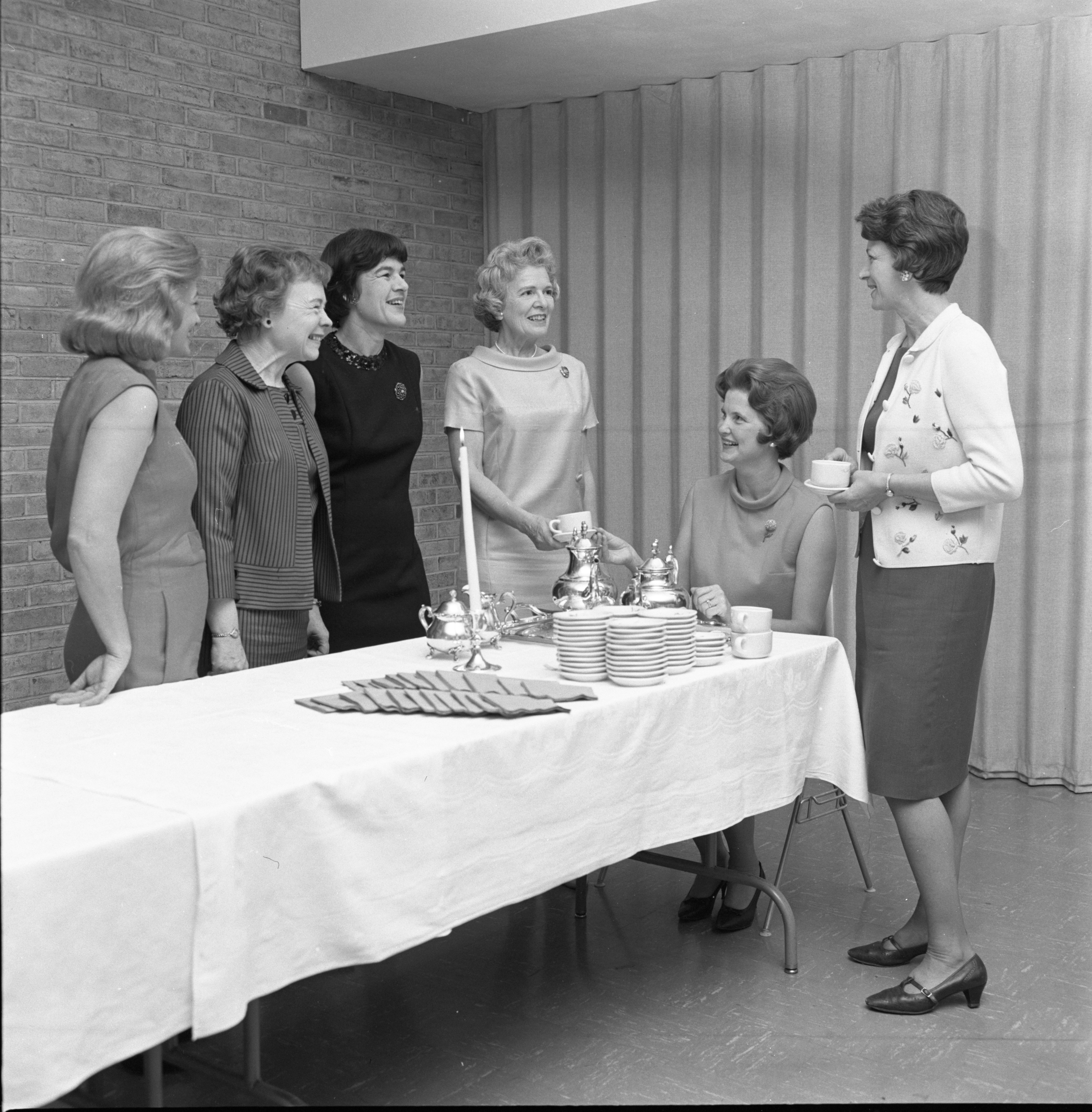 Ladies Chat Over Coffee At A League Of Women Voters Gathering, September 1967 image
