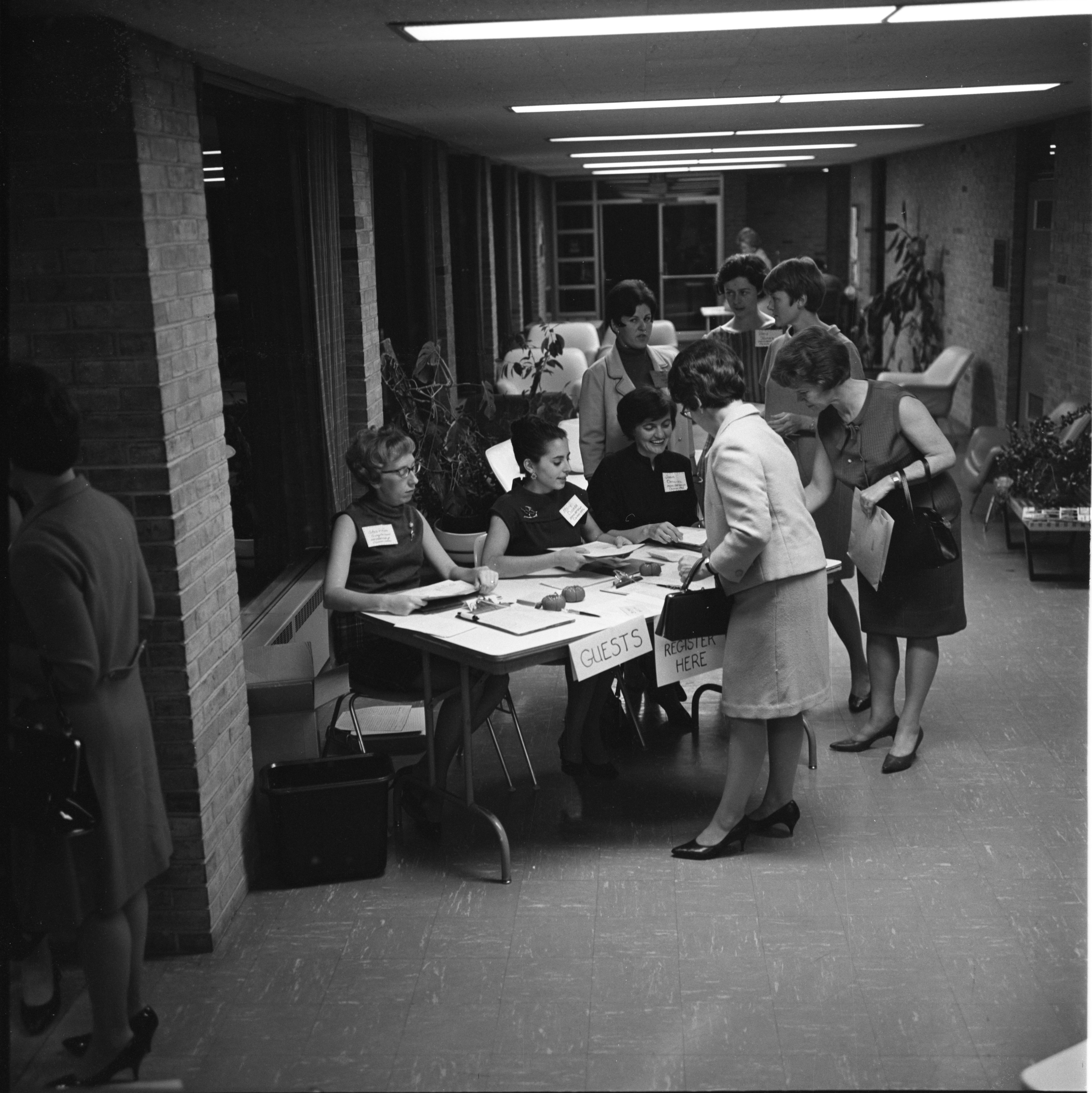 Guests Are Registered At A League Of Women Voters Gathering, September 1967 image