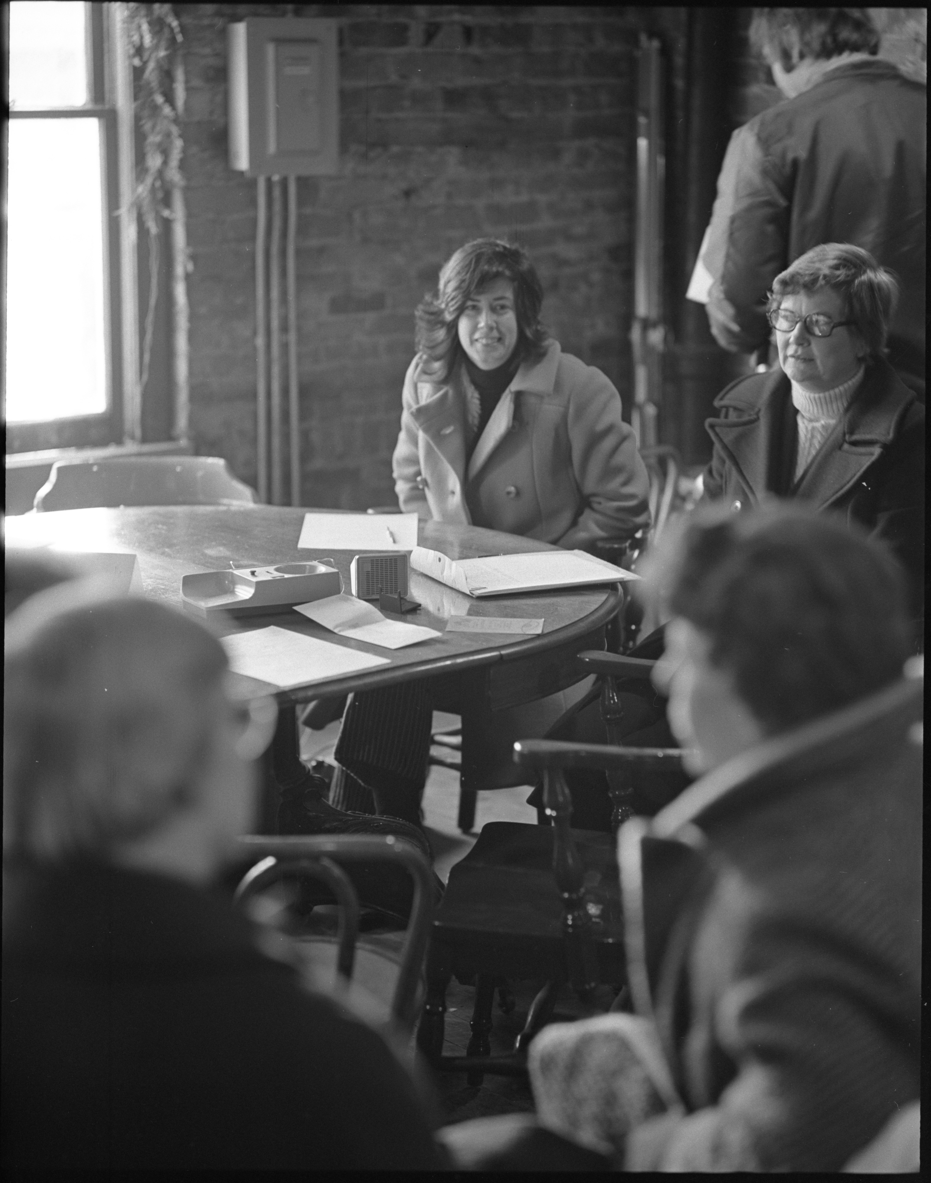 League Of Women Voters Members Conduct A Phone Interview With Congressman Marvin L. Esch, December 1973 image