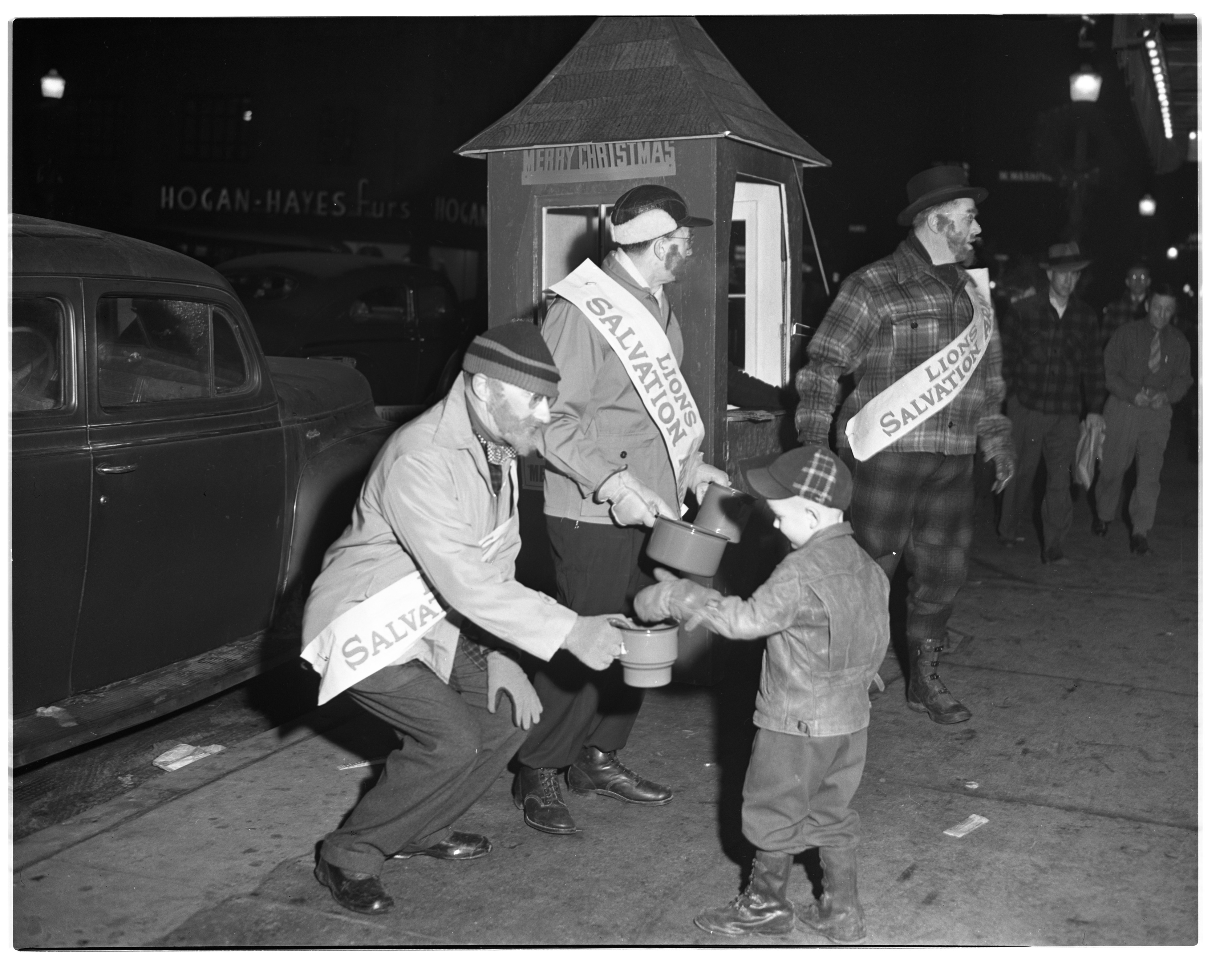'Lumberjack' Lions Club Collect For Salvation Army, December 1947 image