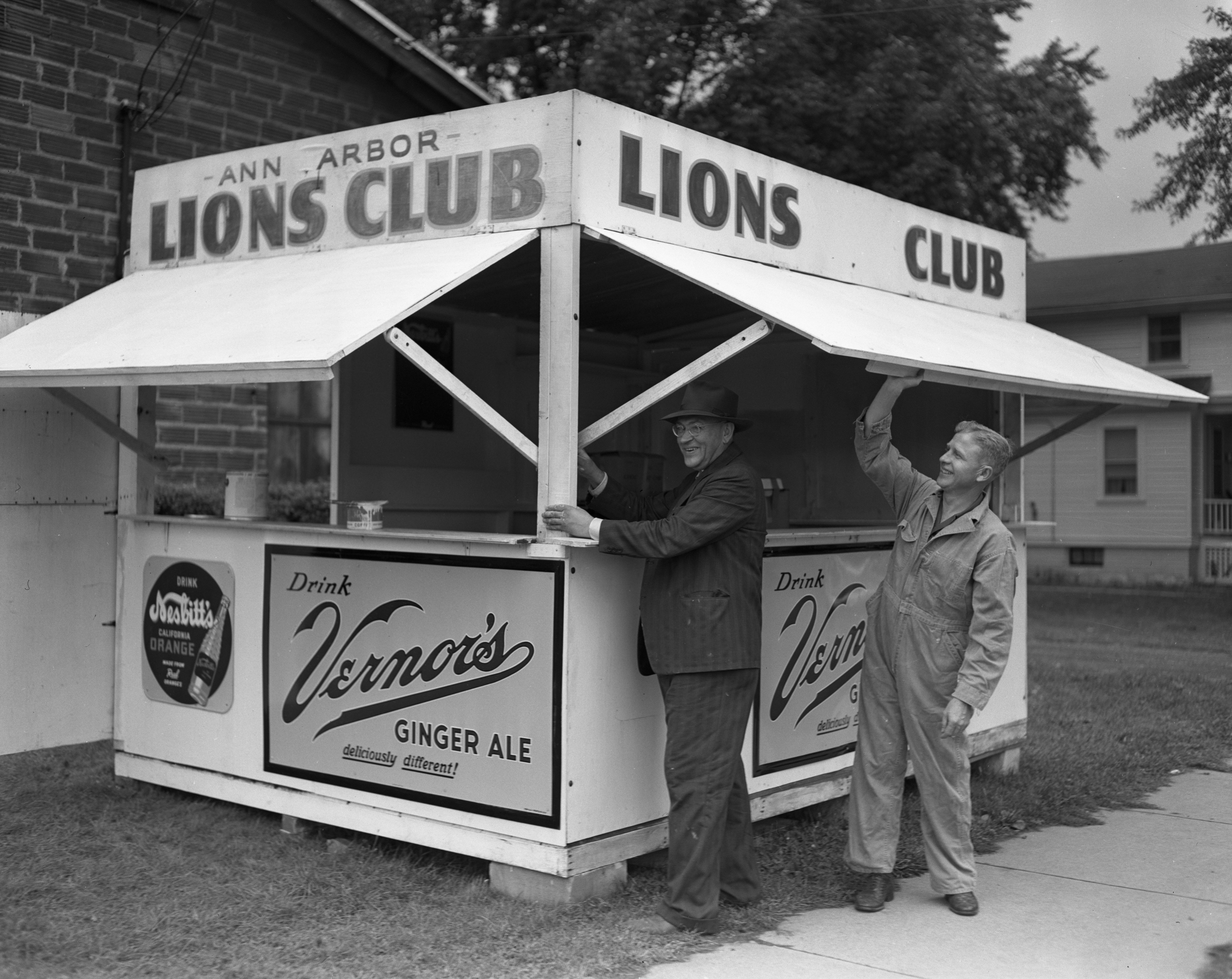 Ann Arbor Lions Club booth at Michigan Stadium, September 1951 image