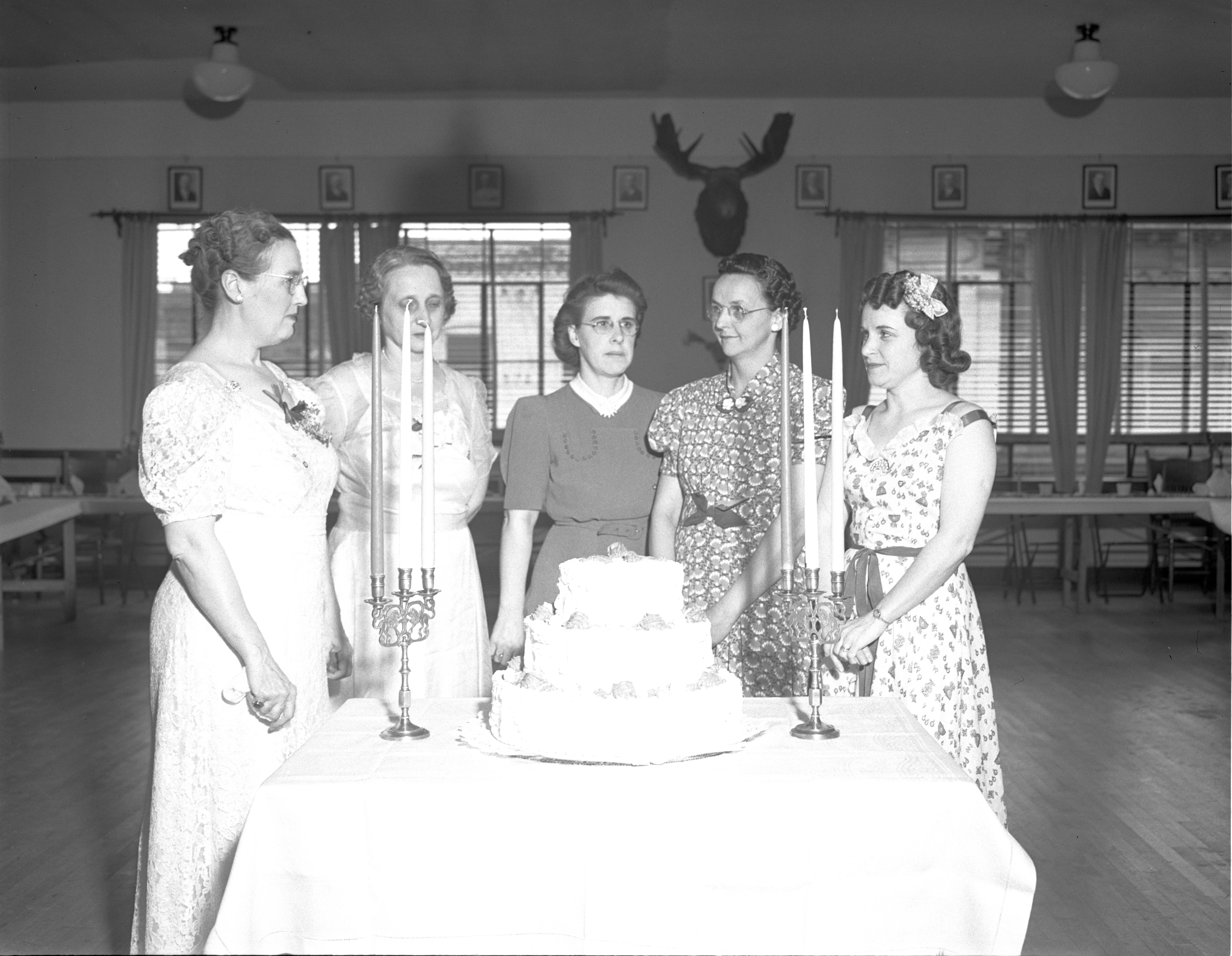 Women Of The Moose Celebrate The 10th Anniversary Of Their Ann Arbor Group, May 1940 image
