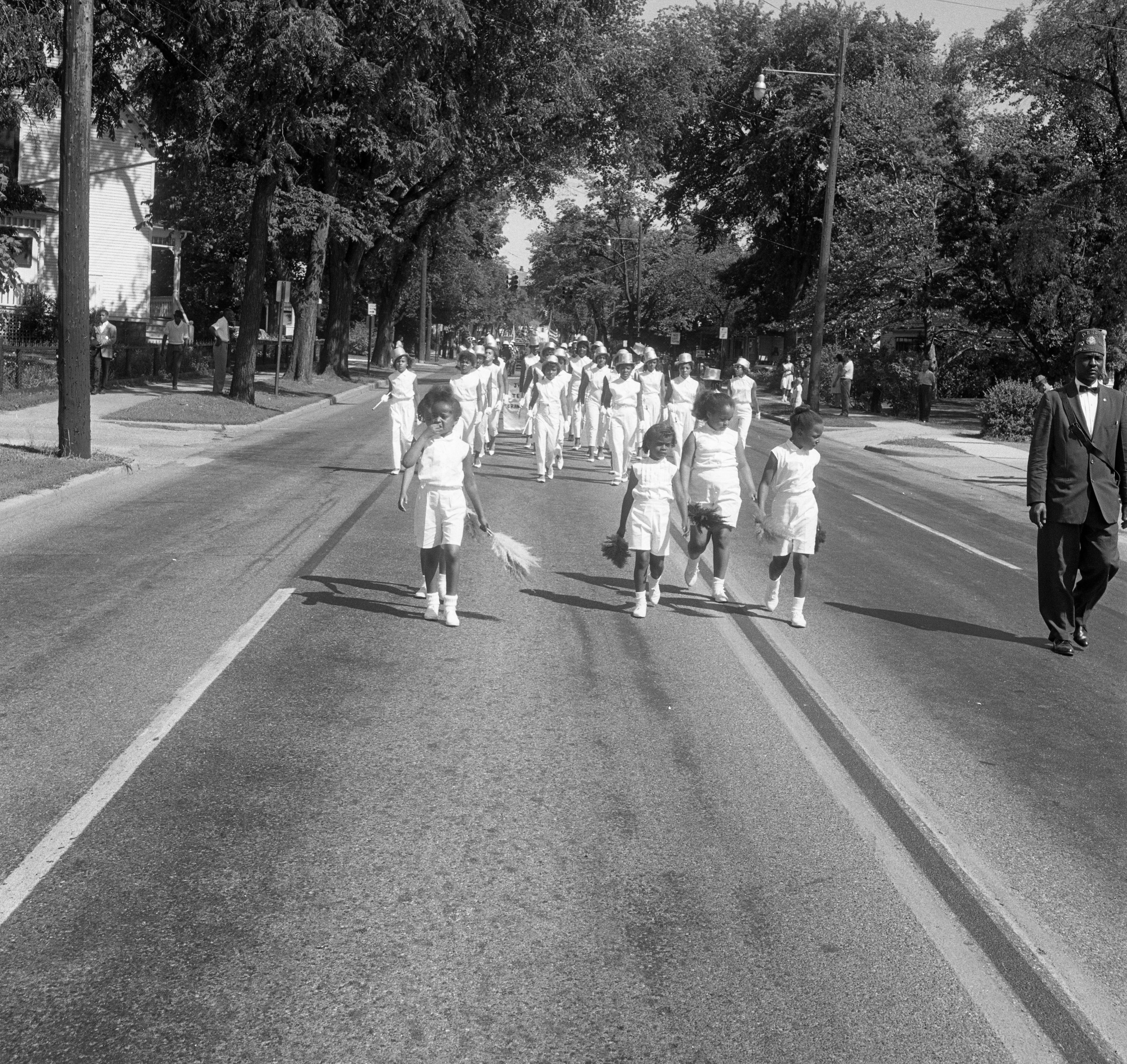 Junior Temple of Grand Rapids Marching In 26th Annual State Elks Convention Parade, June 25, 1962 image