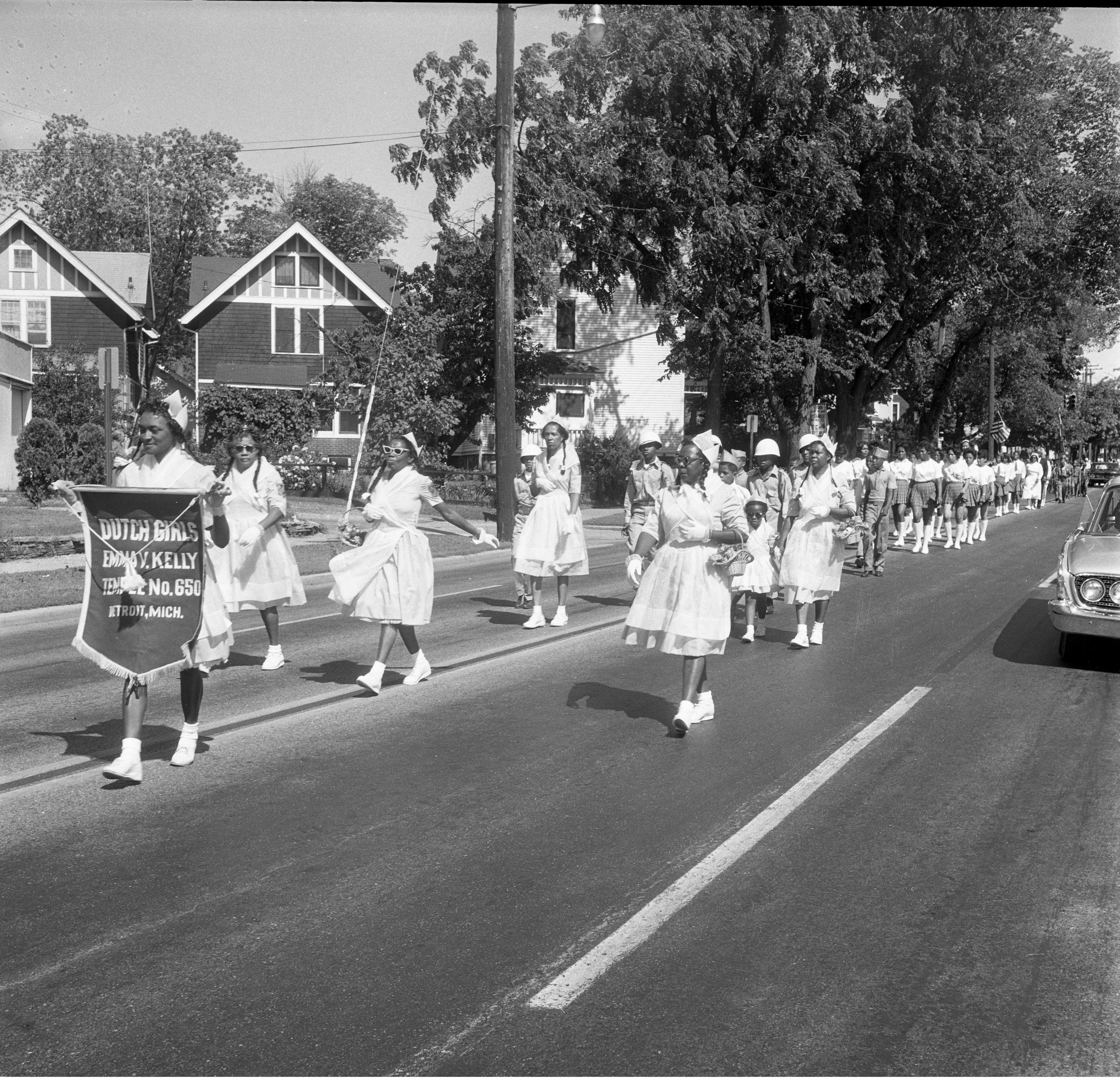 Dutch Girls, Emma V. Kelly, Temple No. 650 Marching In The 26th Annual Elks Convention Parade, June 25, 1962 image