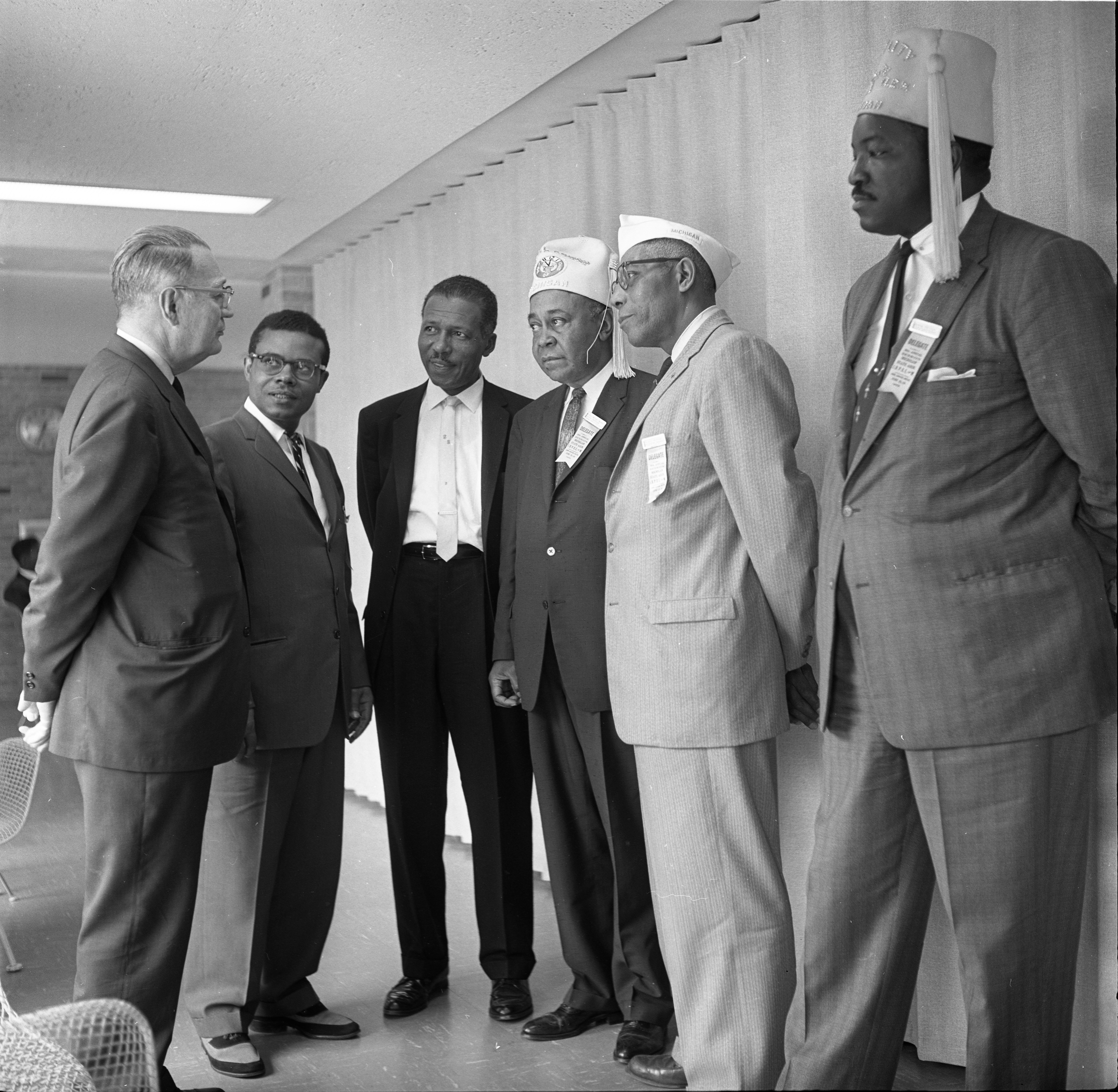 Delegates To The State Elks Convention Meet With Mayor Cecil O. Creal, June 23, 1962 image