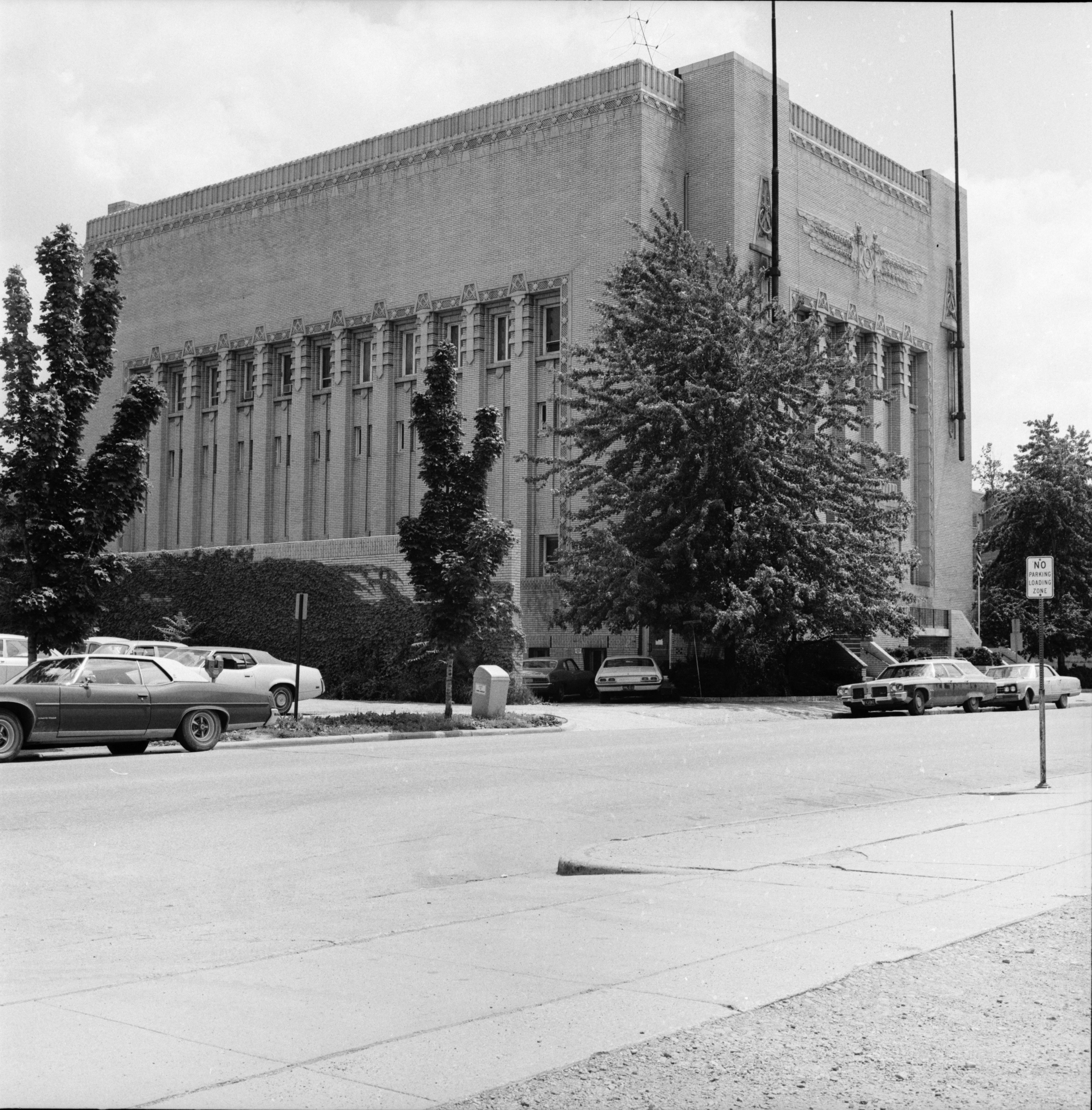 Exterior of the Masonic Temple, July 1973 image