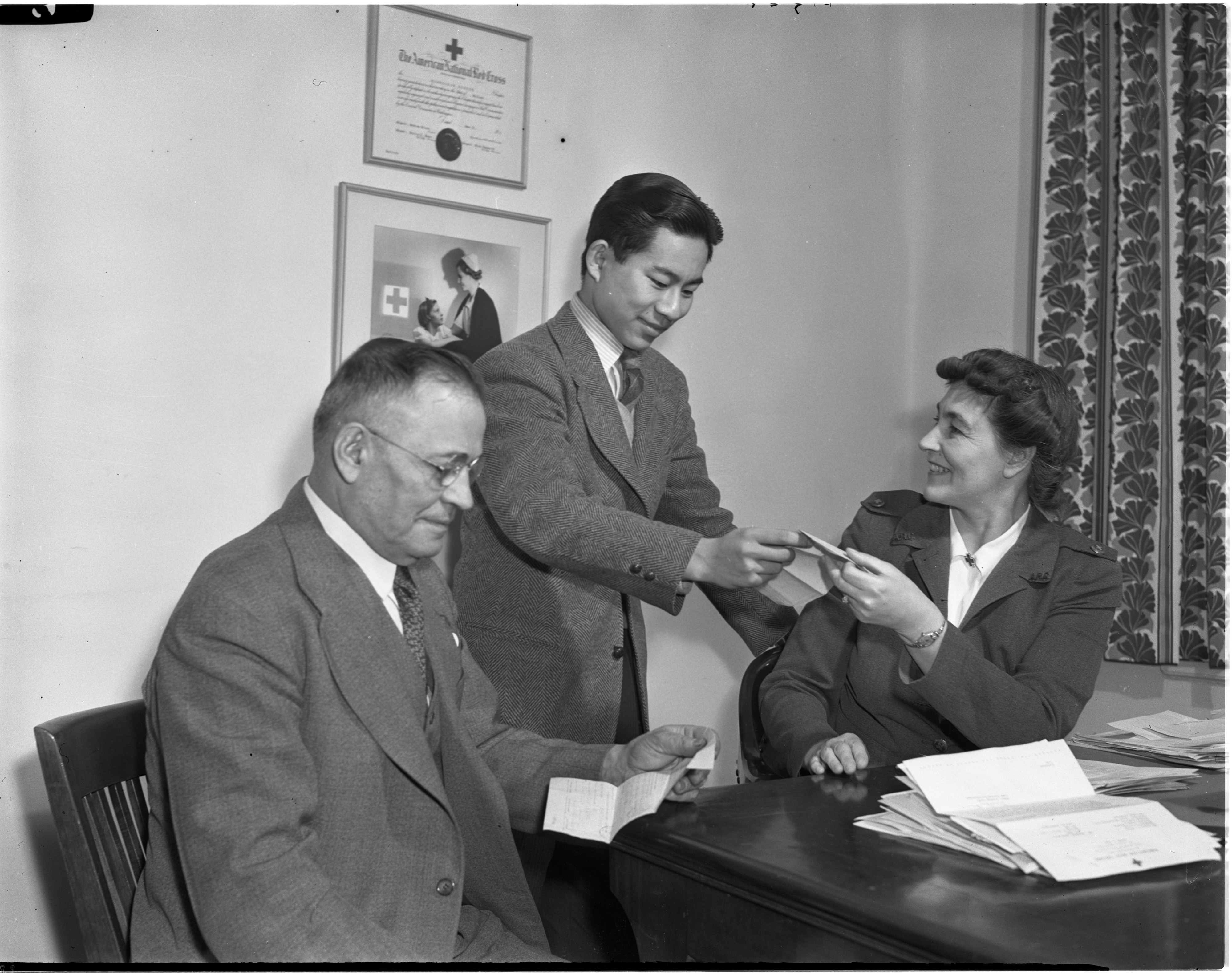 Inquiry and Information Service By the Red Cross, March 1943 image