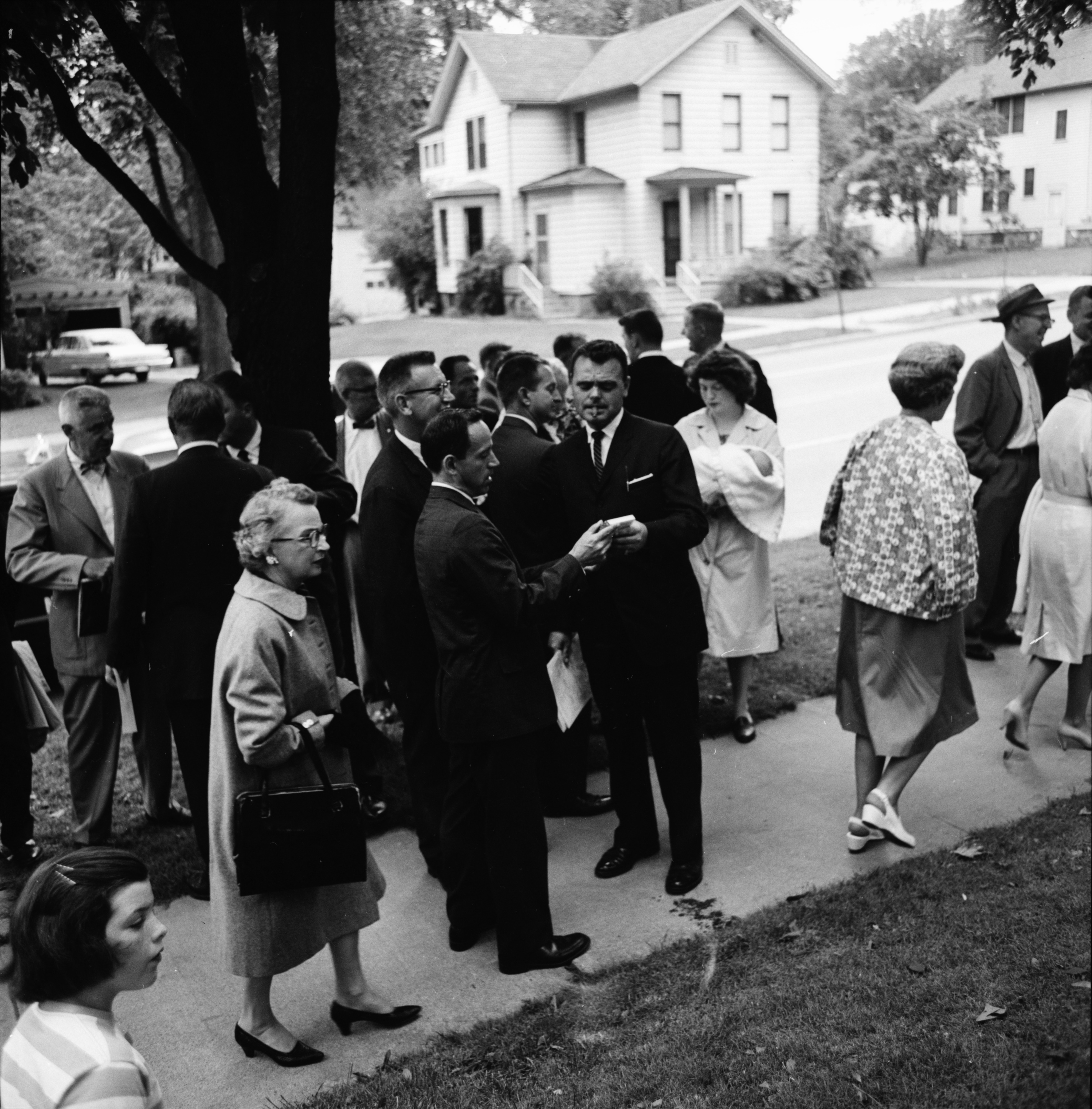 At the Time Capsule on Huron Street Lawn, June 1962 image