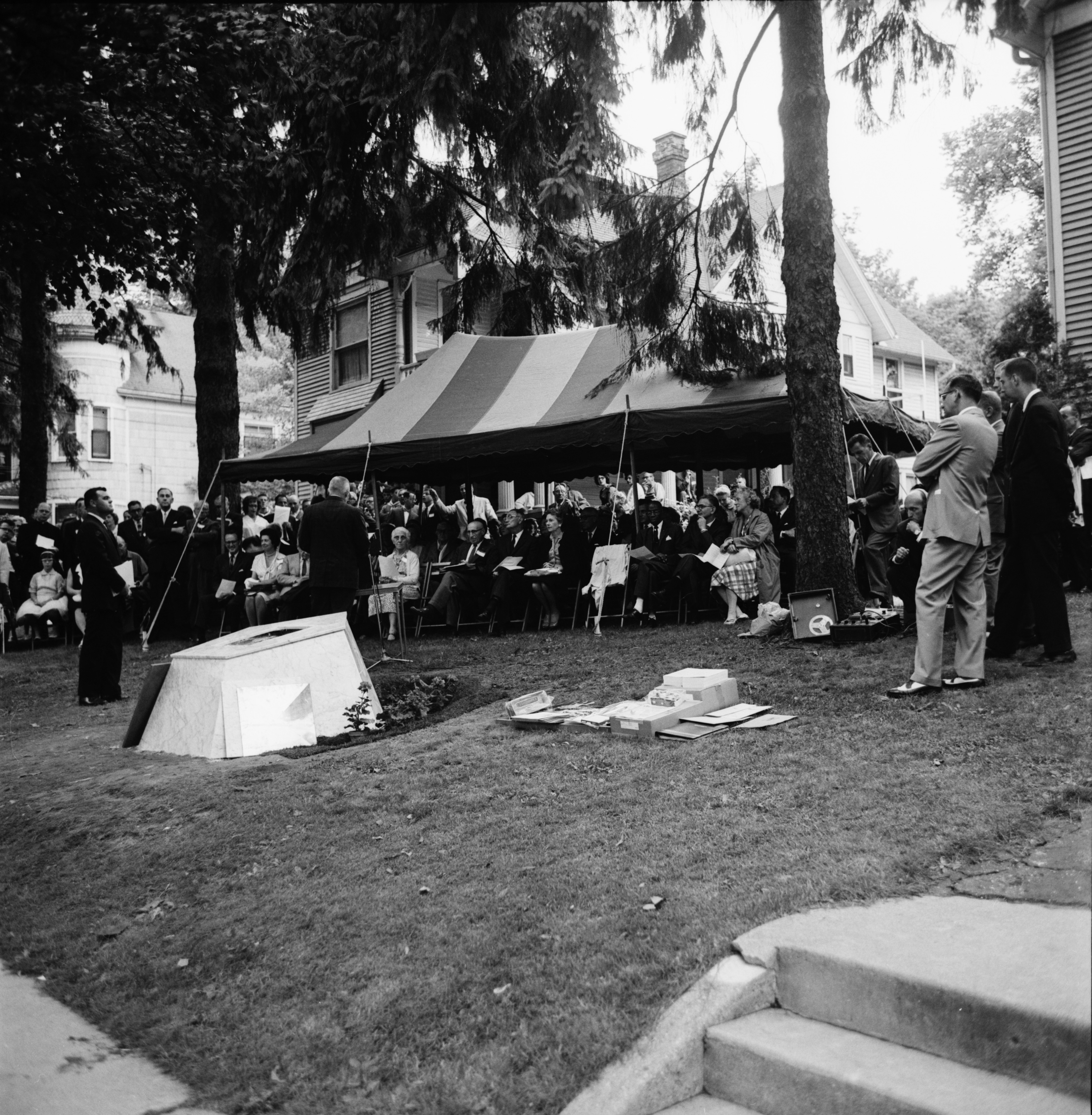 Time Capsule Dedication on Huron Street Lawn, June 1962 image