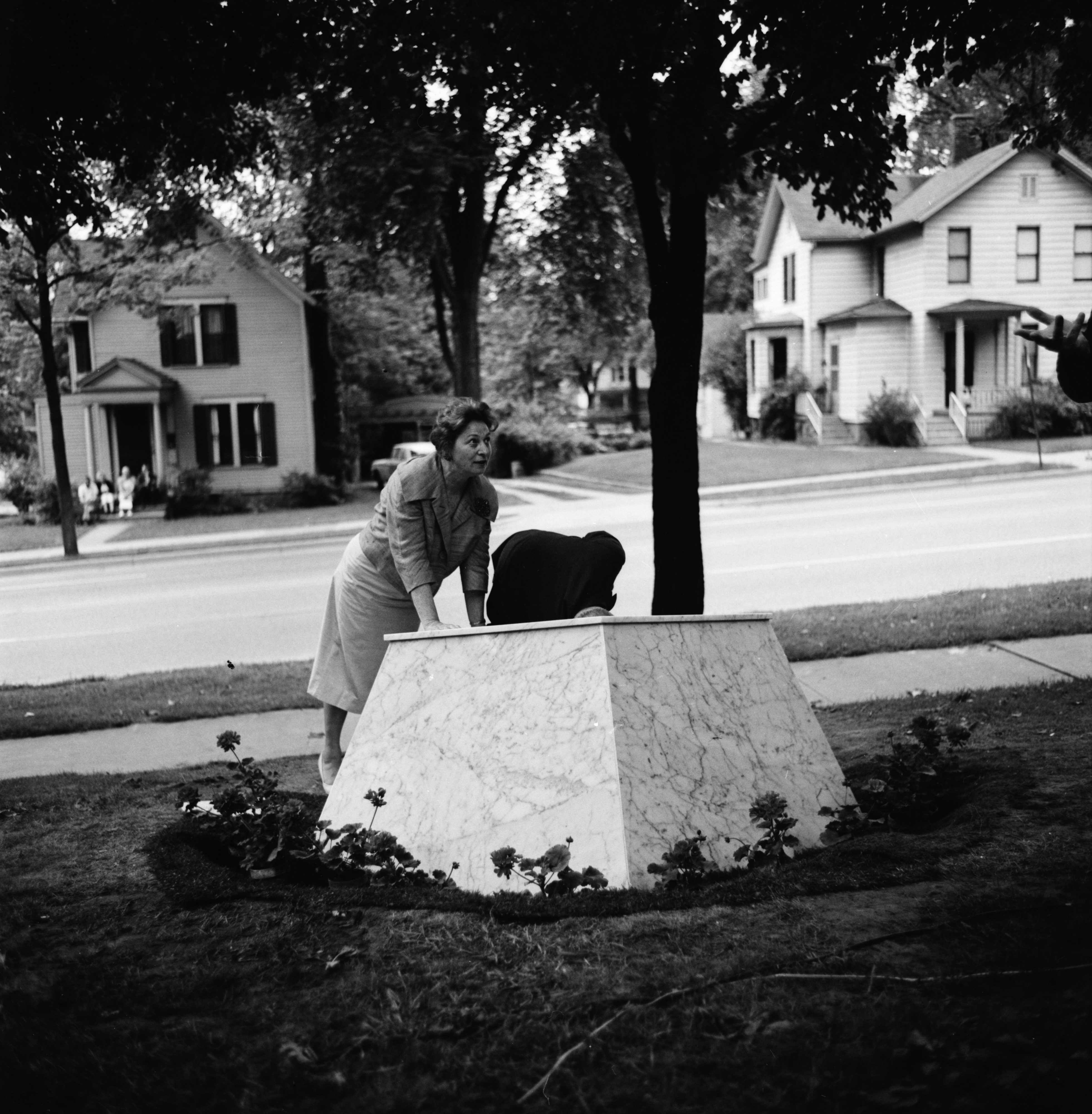 Items for the Time Capsule Dedication on Huron Street Lawn, June 1962 image