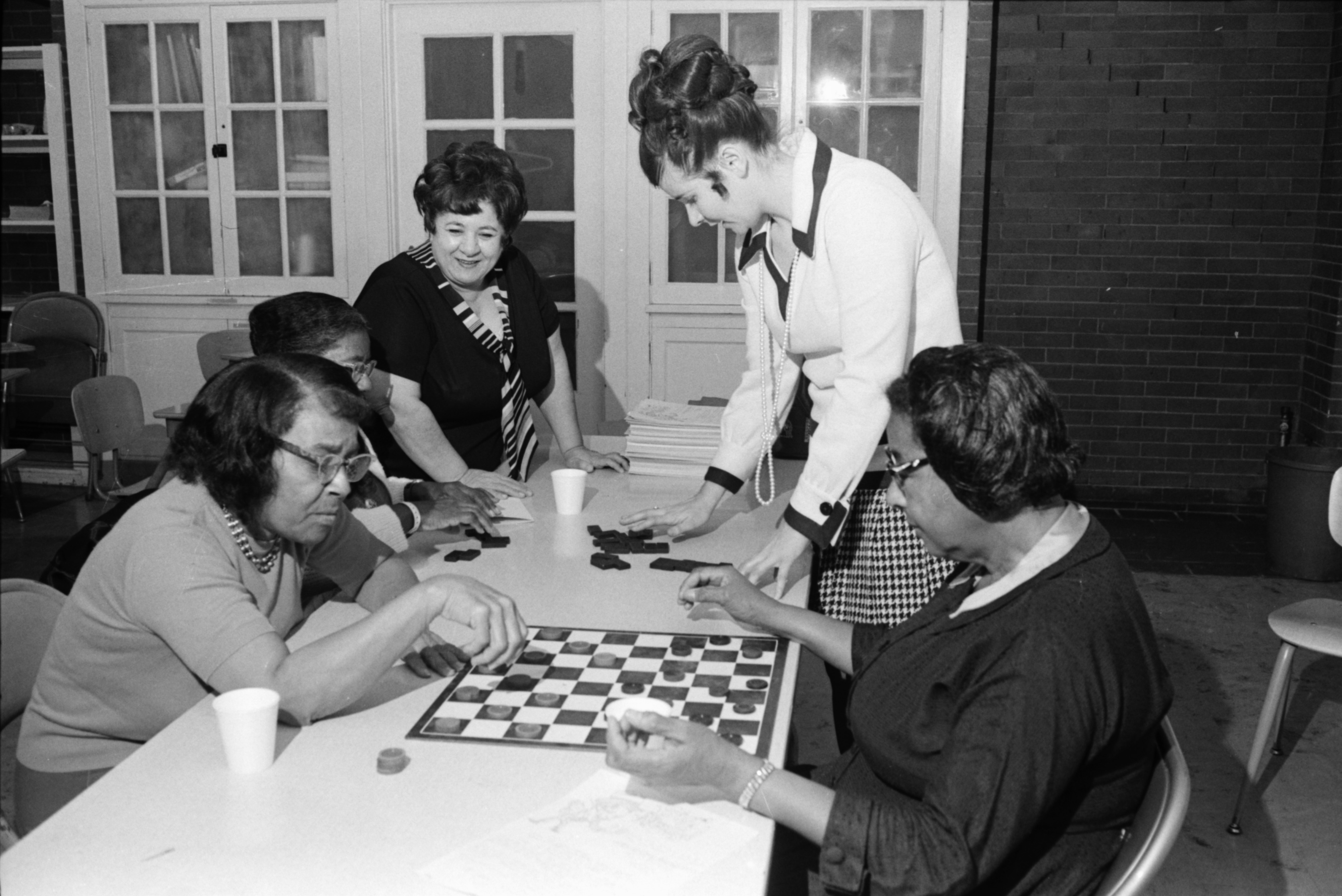 Recreation Department Leads Program for Seniors at Jones School Drop-In Center, November 1970 image