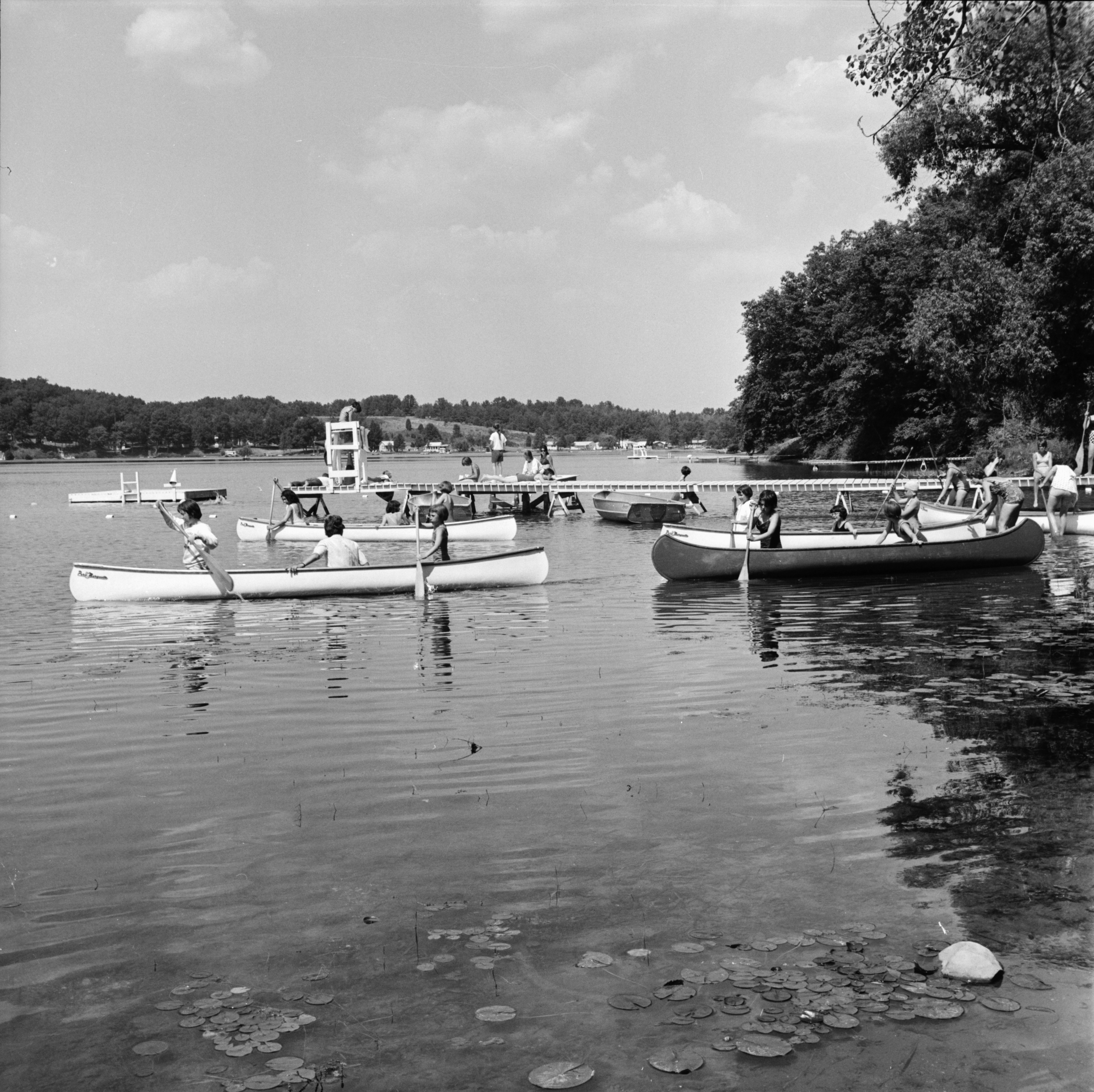 Setting out on Clear Lake at YM-YWCA's Camp Takona, July 1963 image