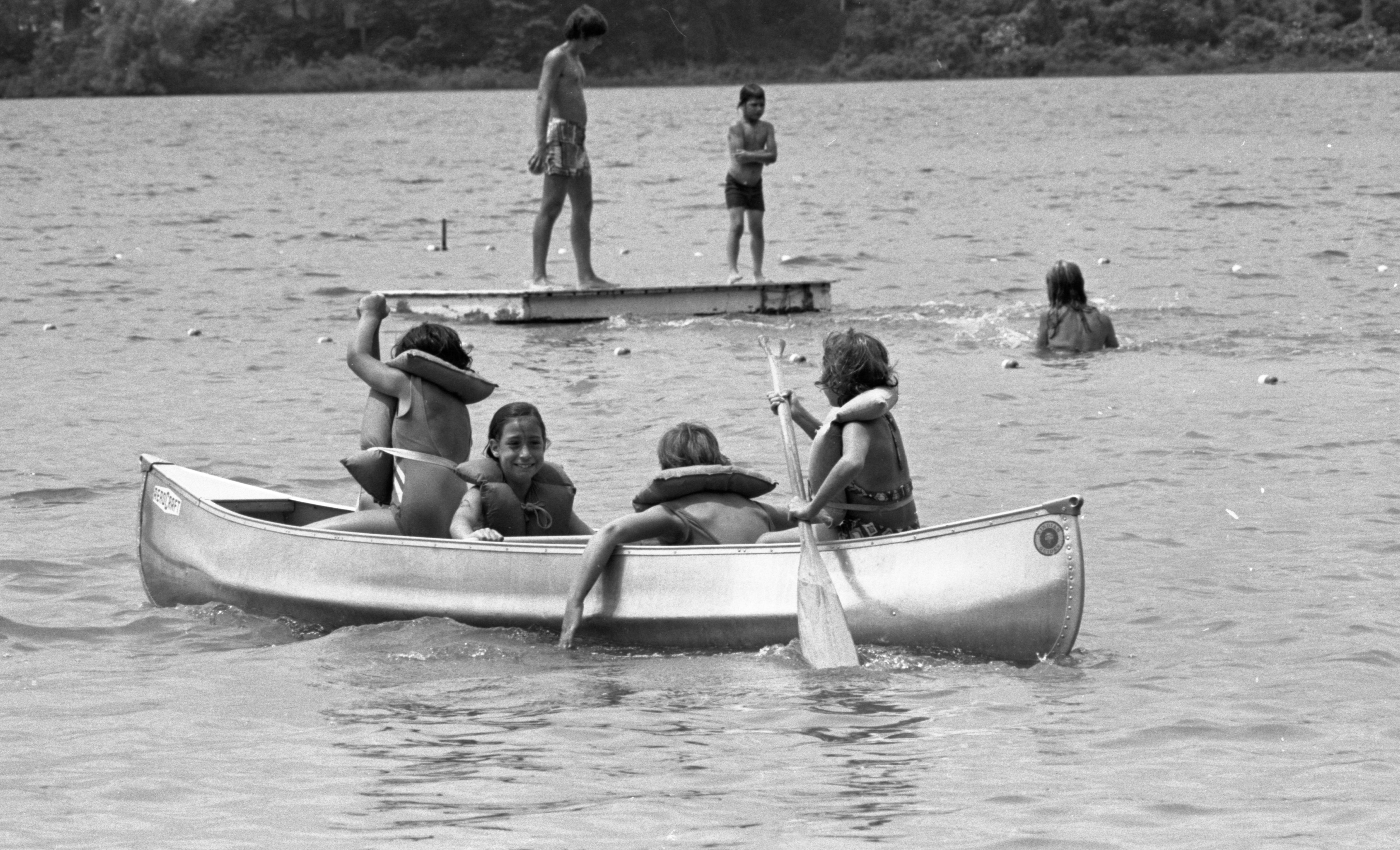 Canoeing On Silver Lake At YM-YWCA Camp Birkett, July 1973 image