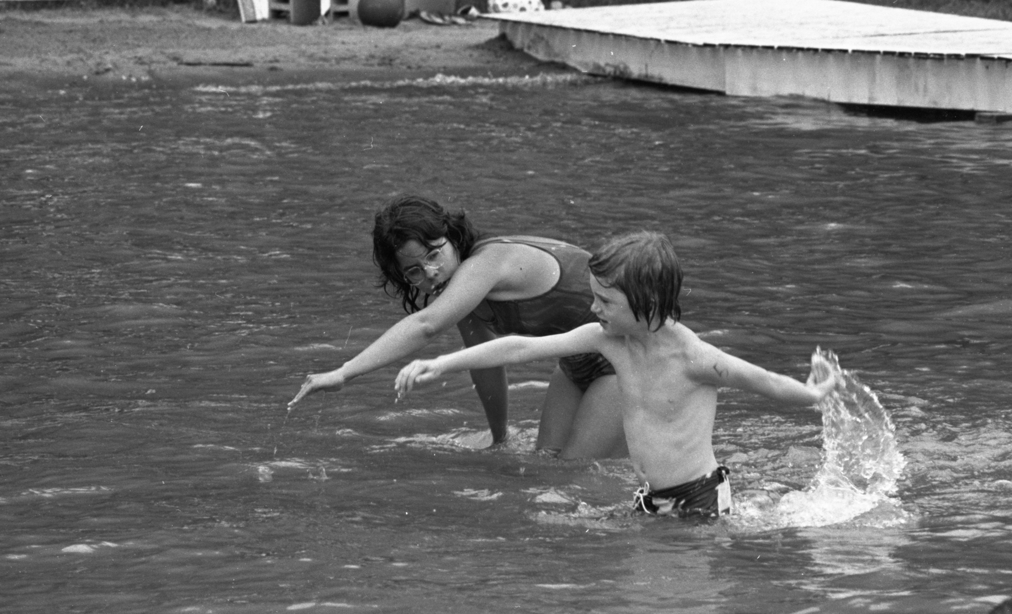 Swim Instruction In Silver Lake At YM-YWCA Camp Birkett, July 1973 image