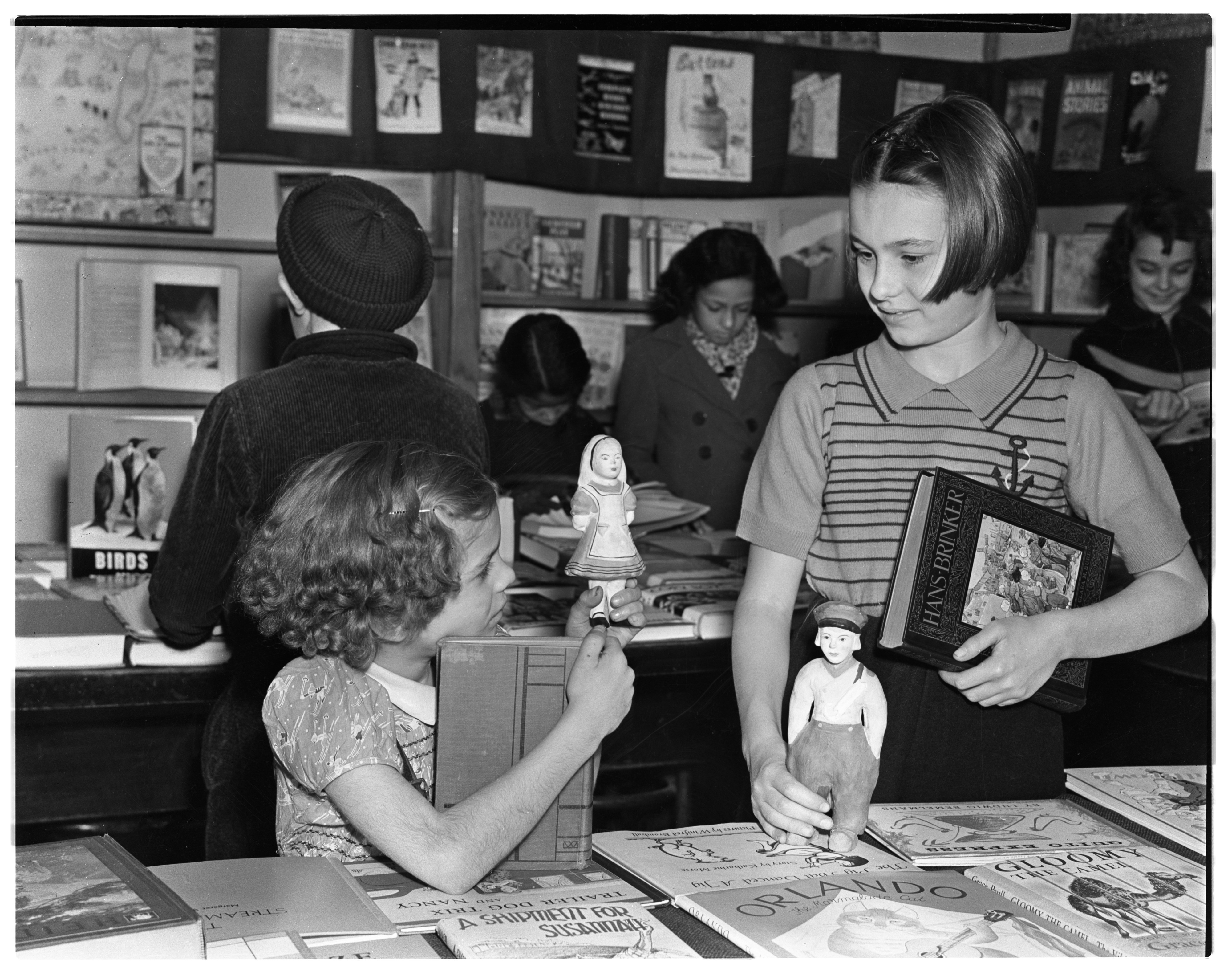 Children's Book Display At The Ann Arbor Public Library, National Book Week, November 1938 image