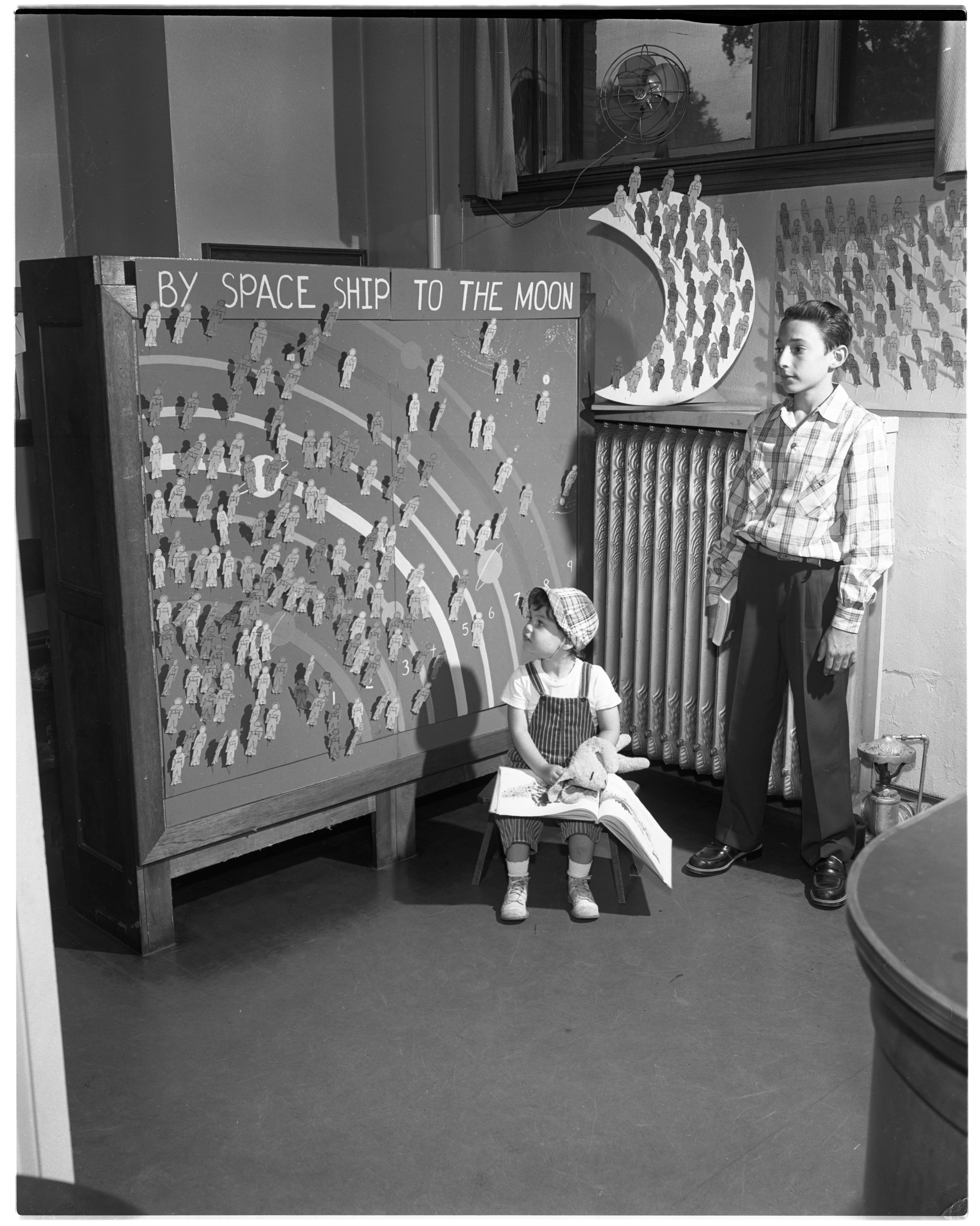 By Space Ship To The Moon - Ann Arbor Public Library Summer Reading Club, September 1954 image