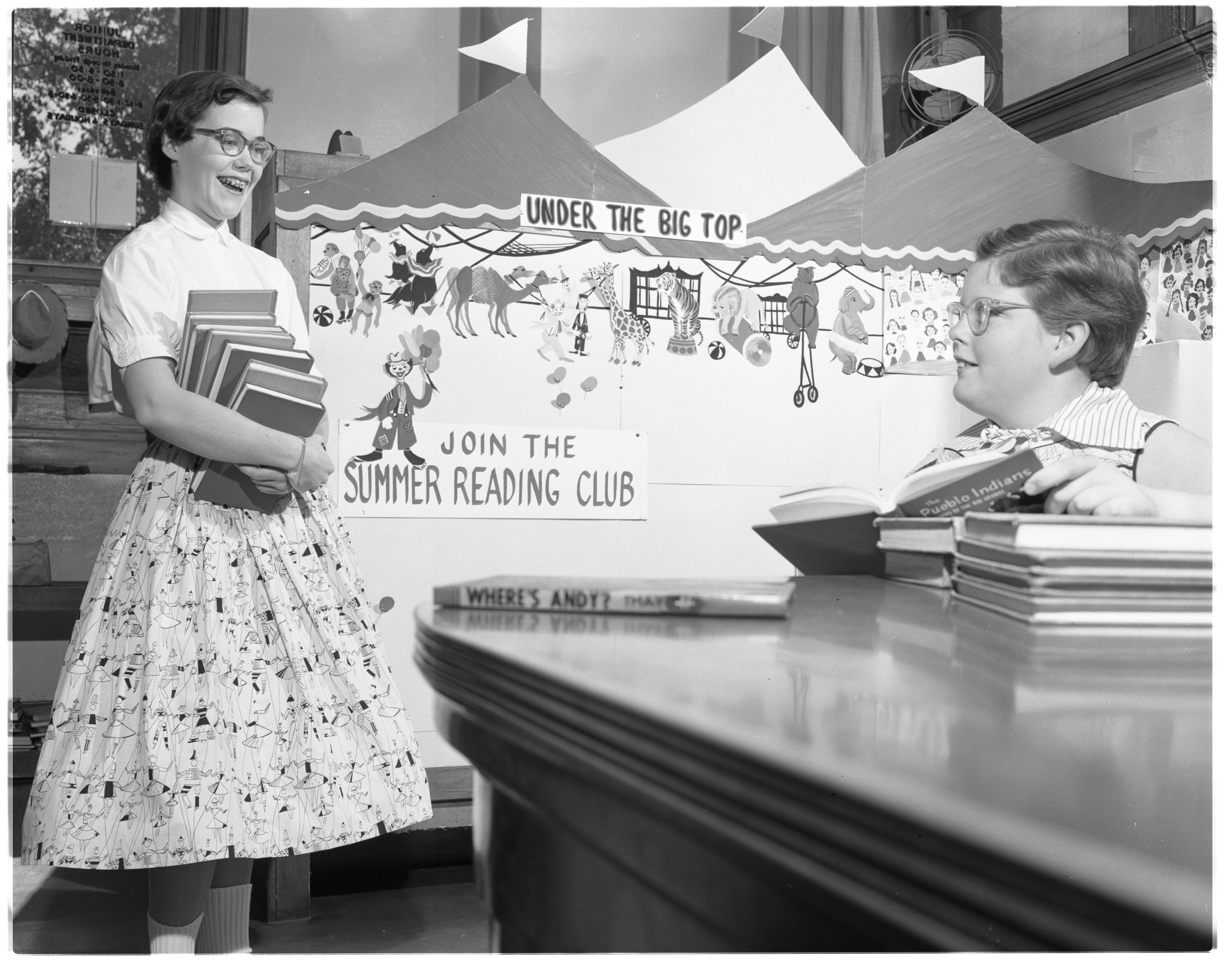 Joining the Ann Arbor Public Library's Summer Reading Club, June 1955 image