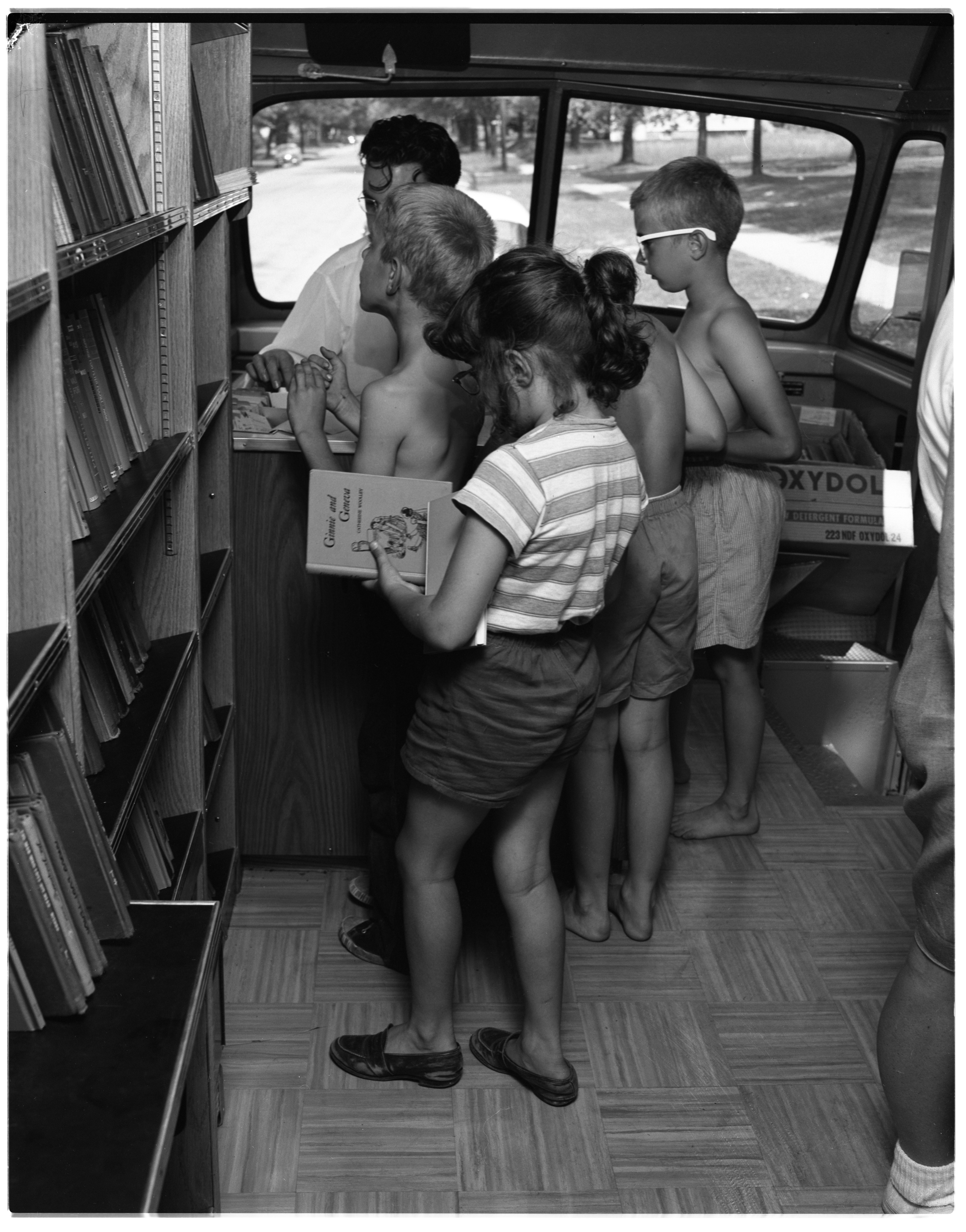 The Ann Arbor Public Library's New Bookmobile, July 1955 image