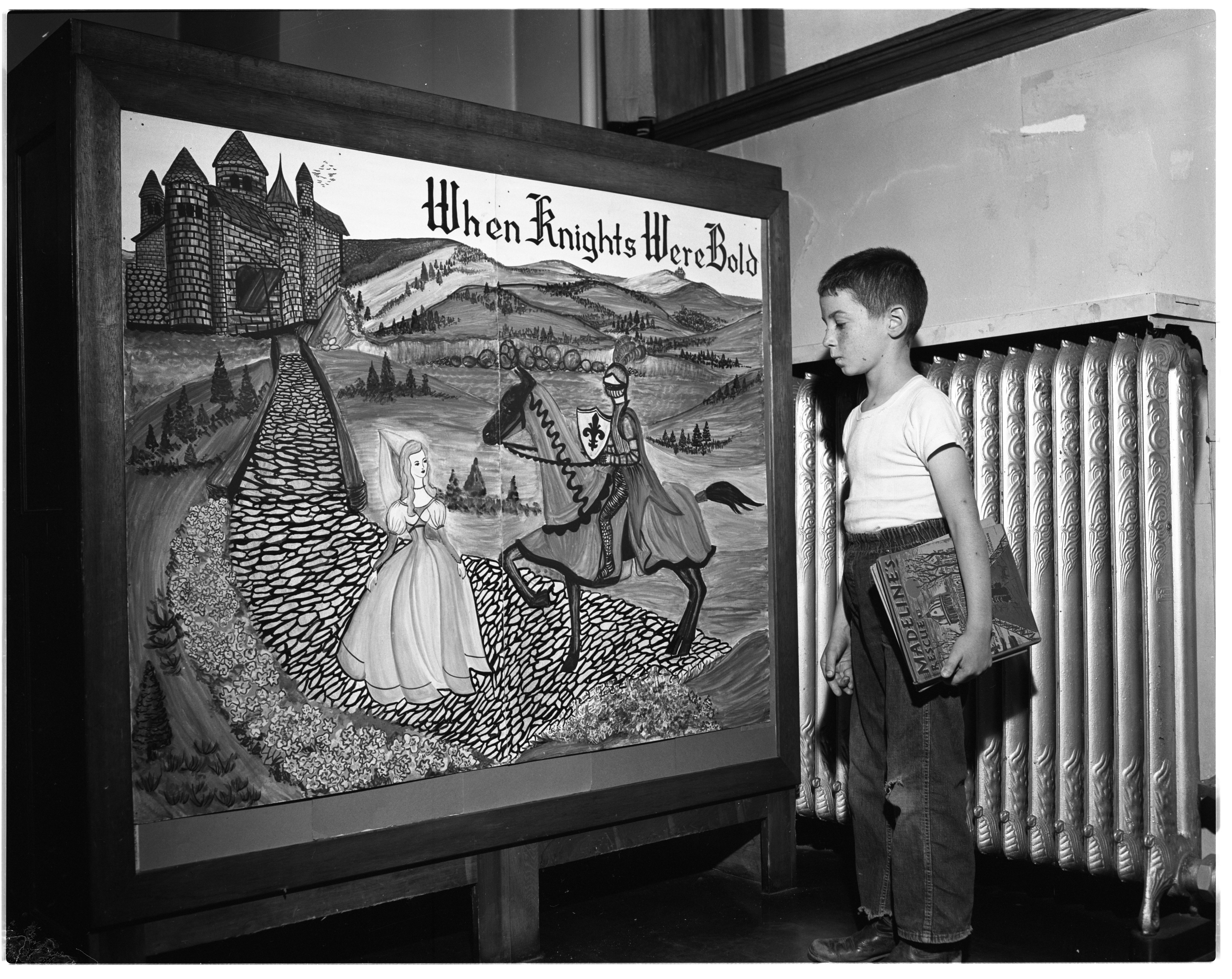 When Knights Were Bold Is Theme of Ann Arbor Public Library's Summer Reading Club, June 1956 image