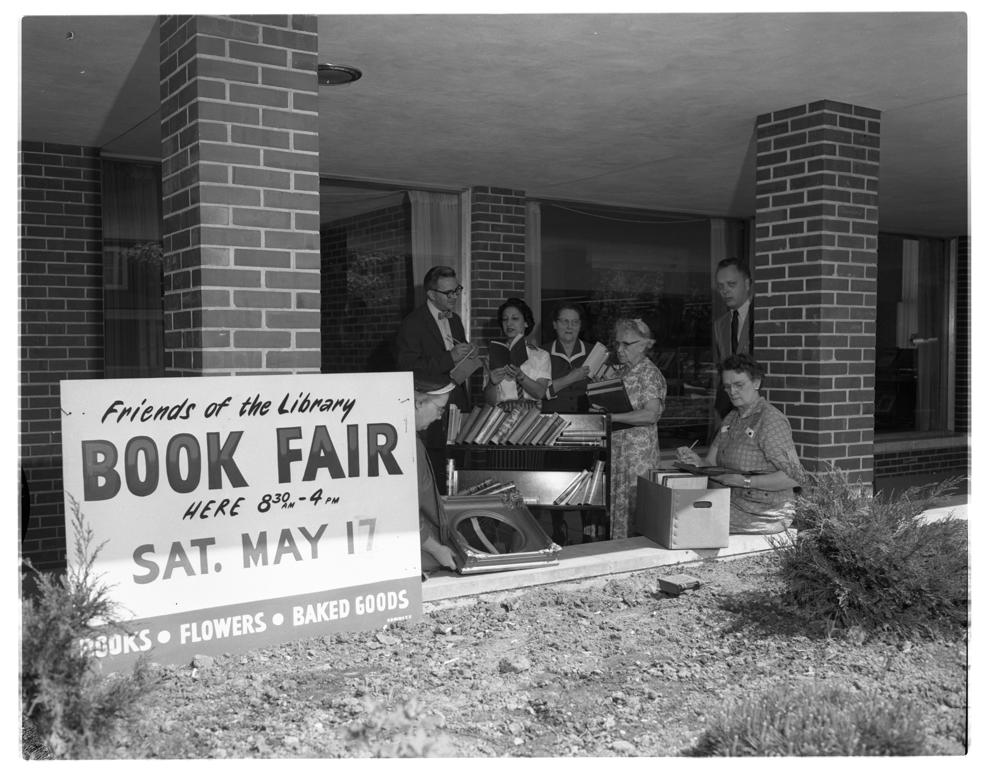 Friends of the Ann Arbor Public Library Prepare For Annual Book Fair, May 1958 image