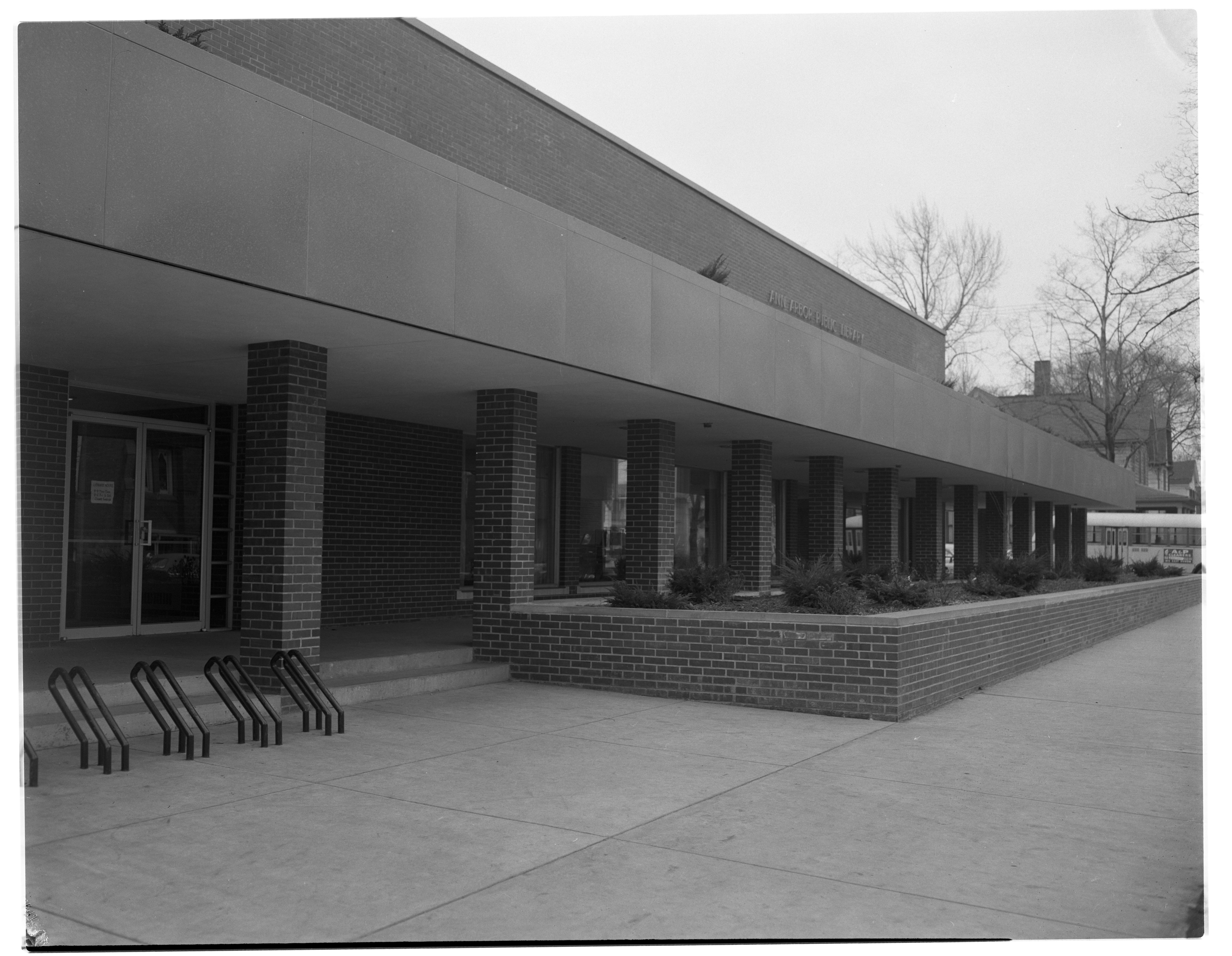 Ann Arbor Public Library Exterior Landscaping, March 1958 image