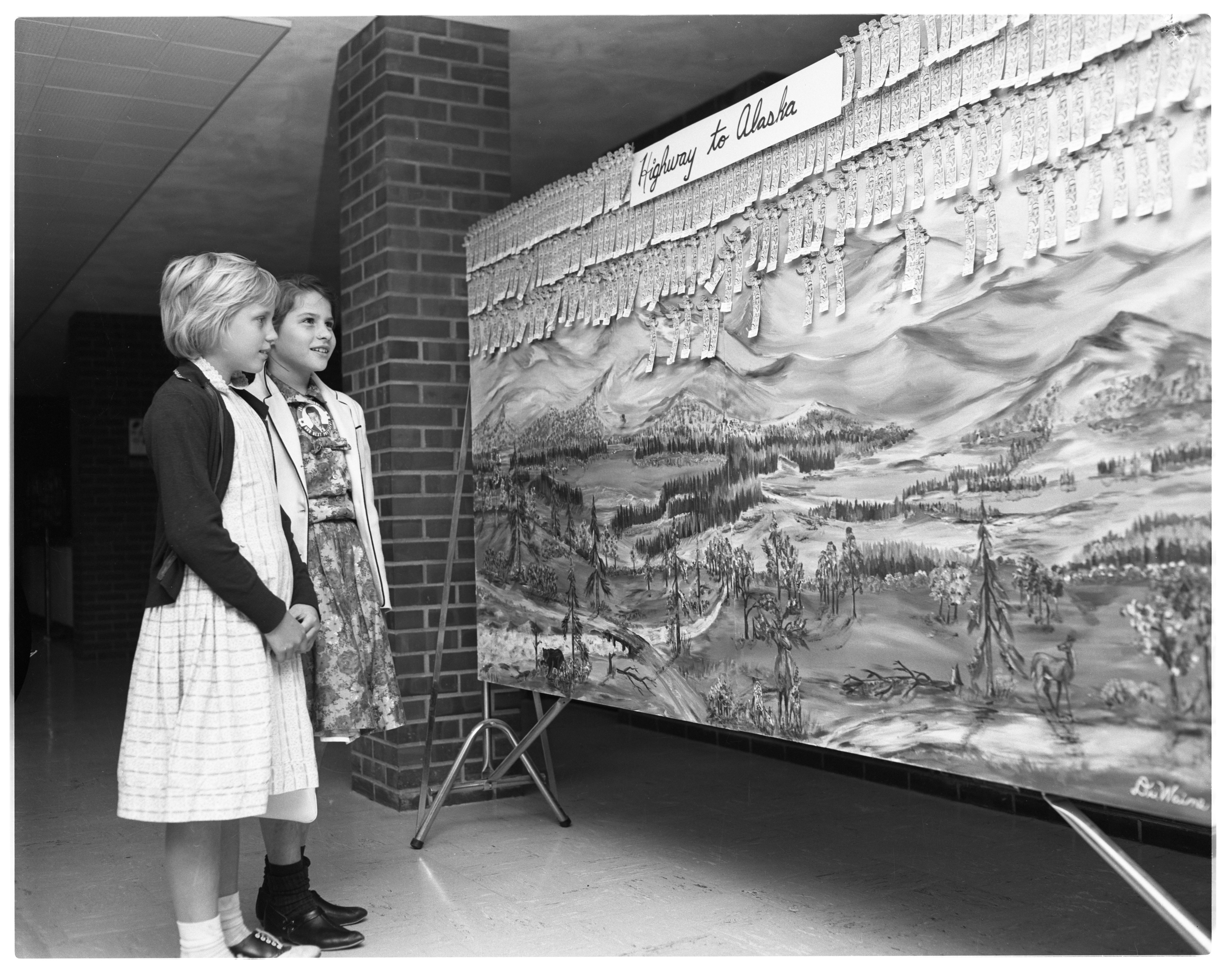 """Highway To Alaska"" is Theme of Ann Arbor Public Library 1960 Summer Reading Club, September 1960 image"
