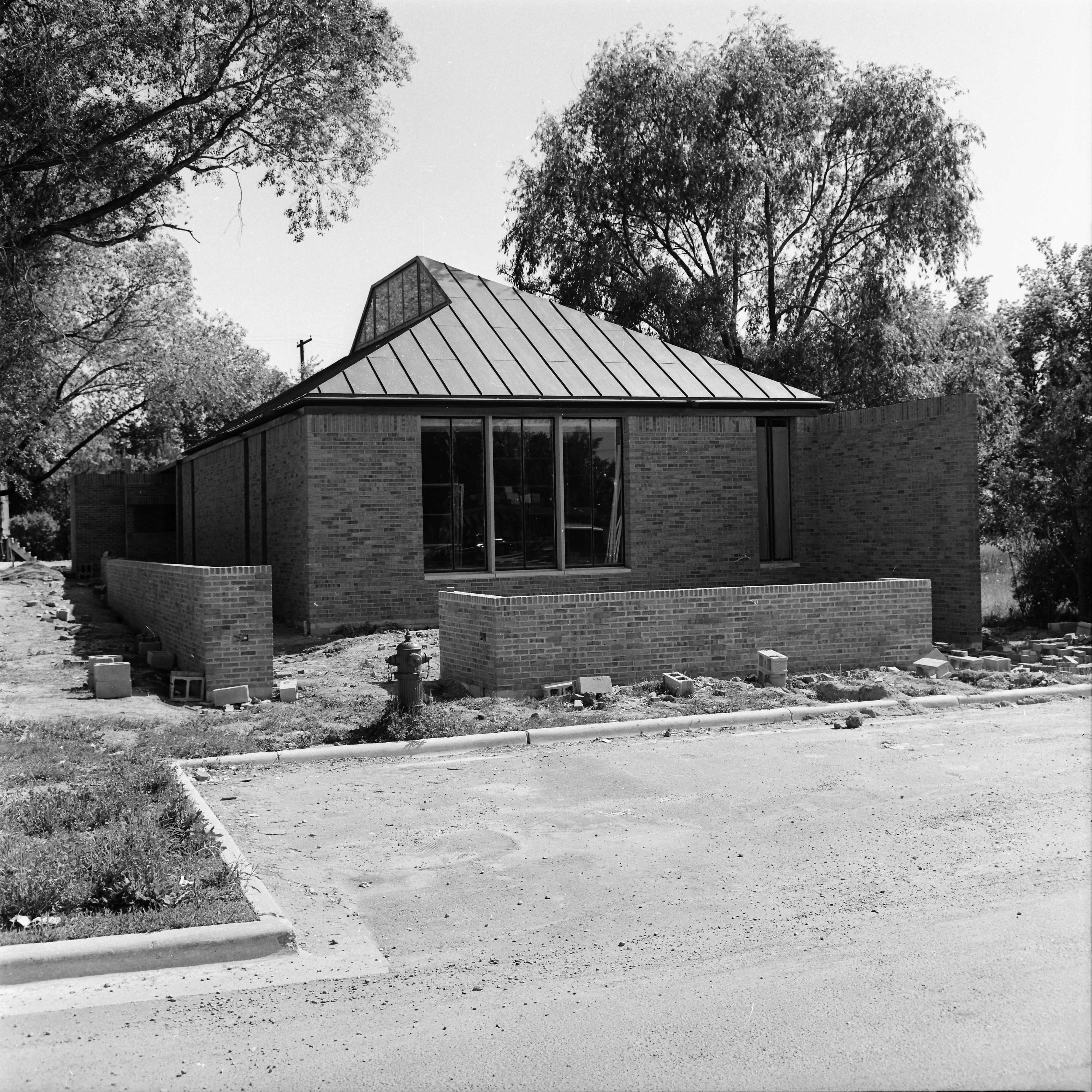 Loving Branch Library On Creek Drive Nearly Completed, June 1965 image