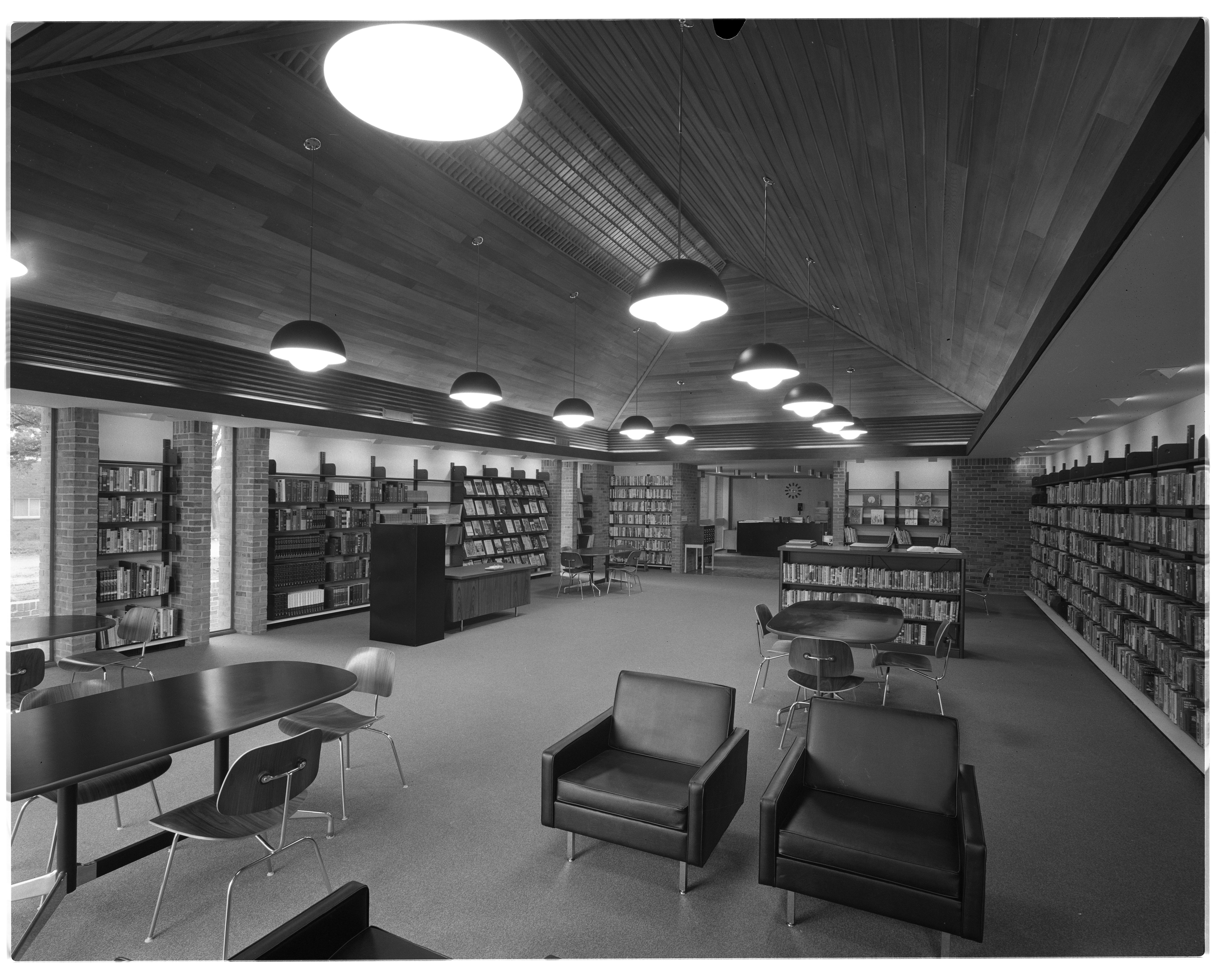 New Nellie S. Loving Branch Library Interior, 3042 Creek Drive, September 1965 image