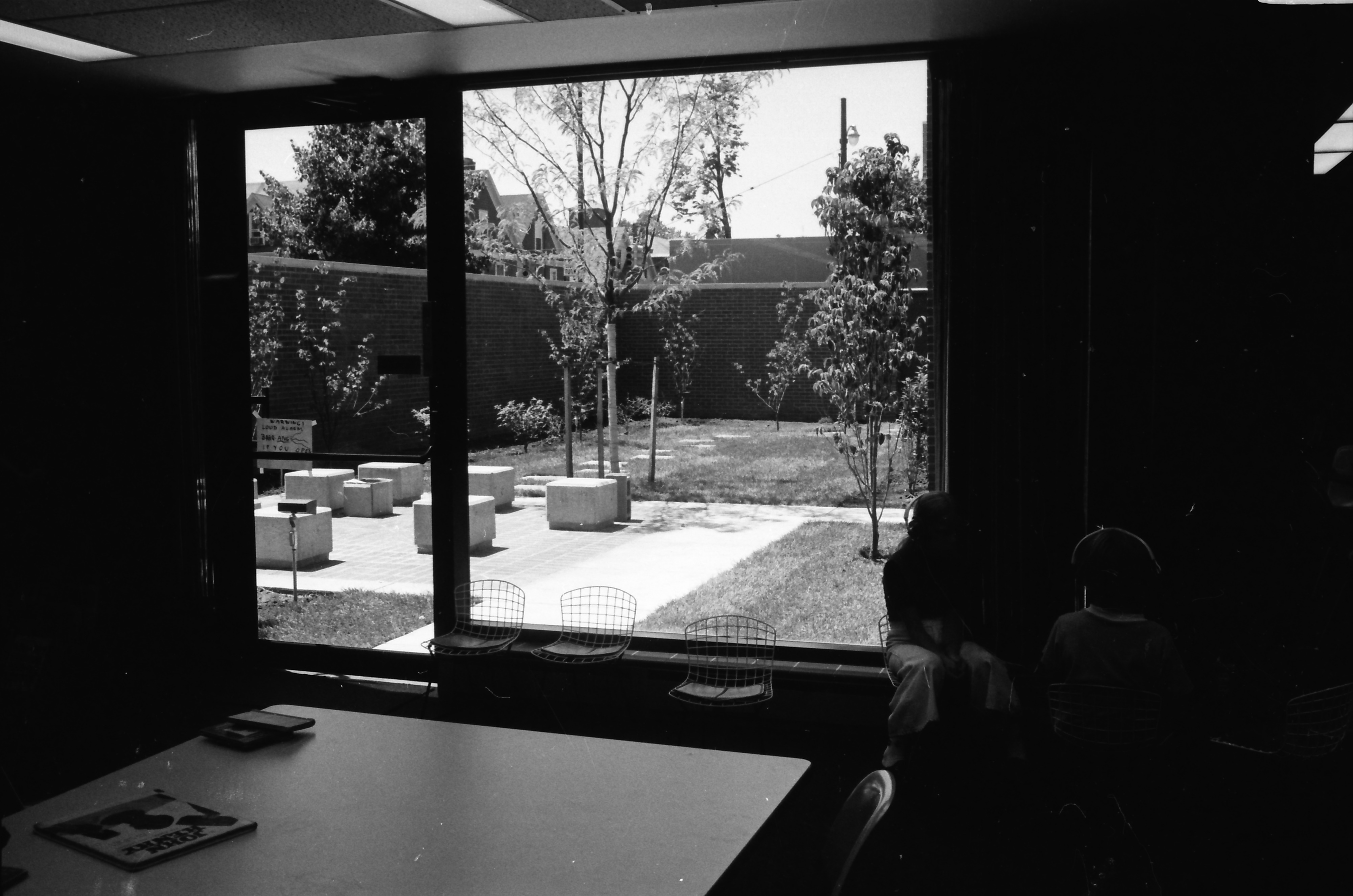 View to the Garden in the New Addition at the Ann Arbor Public Library, 343 S Fifth Ave, July 1974 image