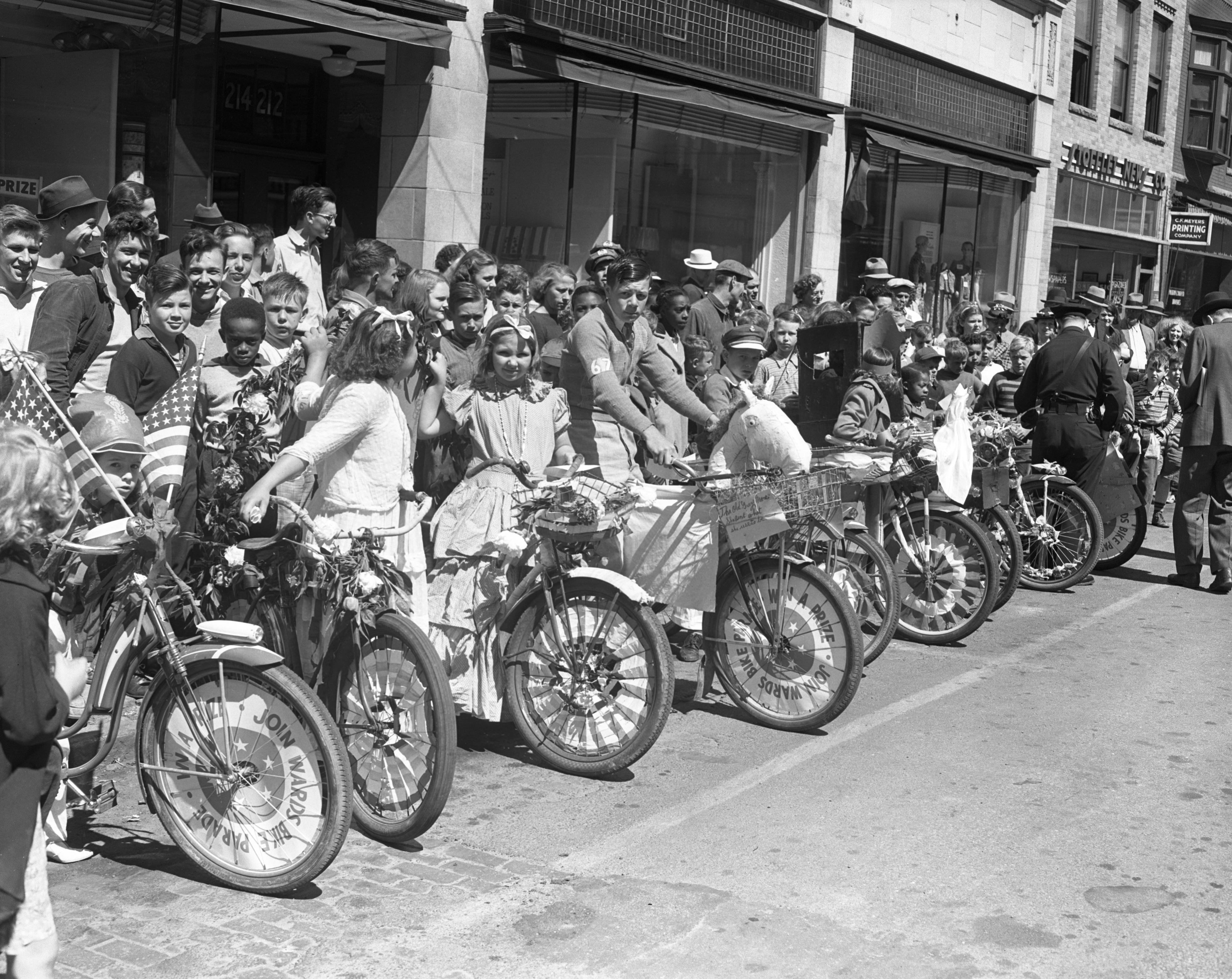 Montgomery Ward's Bicycle Parade, 1940 image