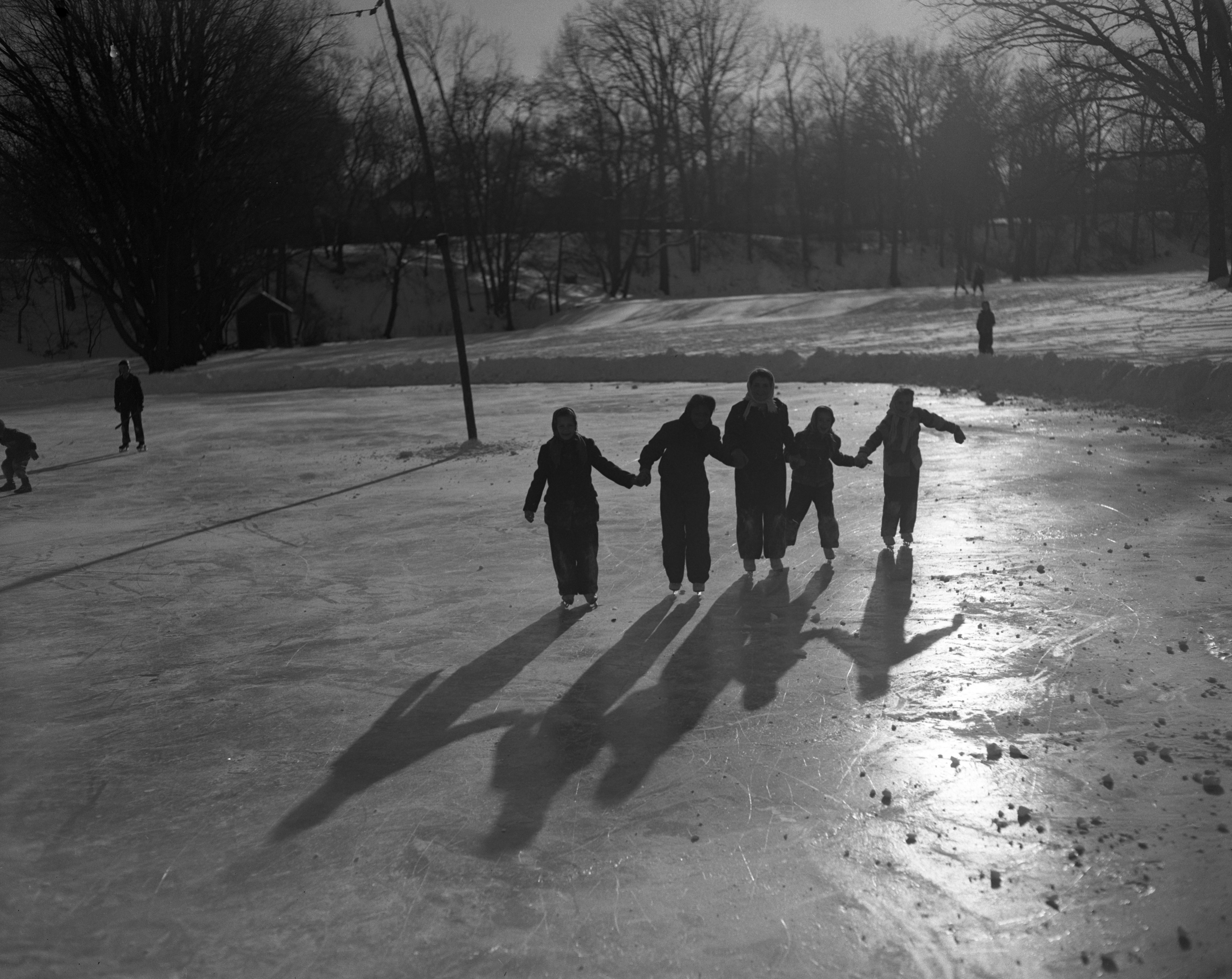 Winter fun at West Park, December 1950 image