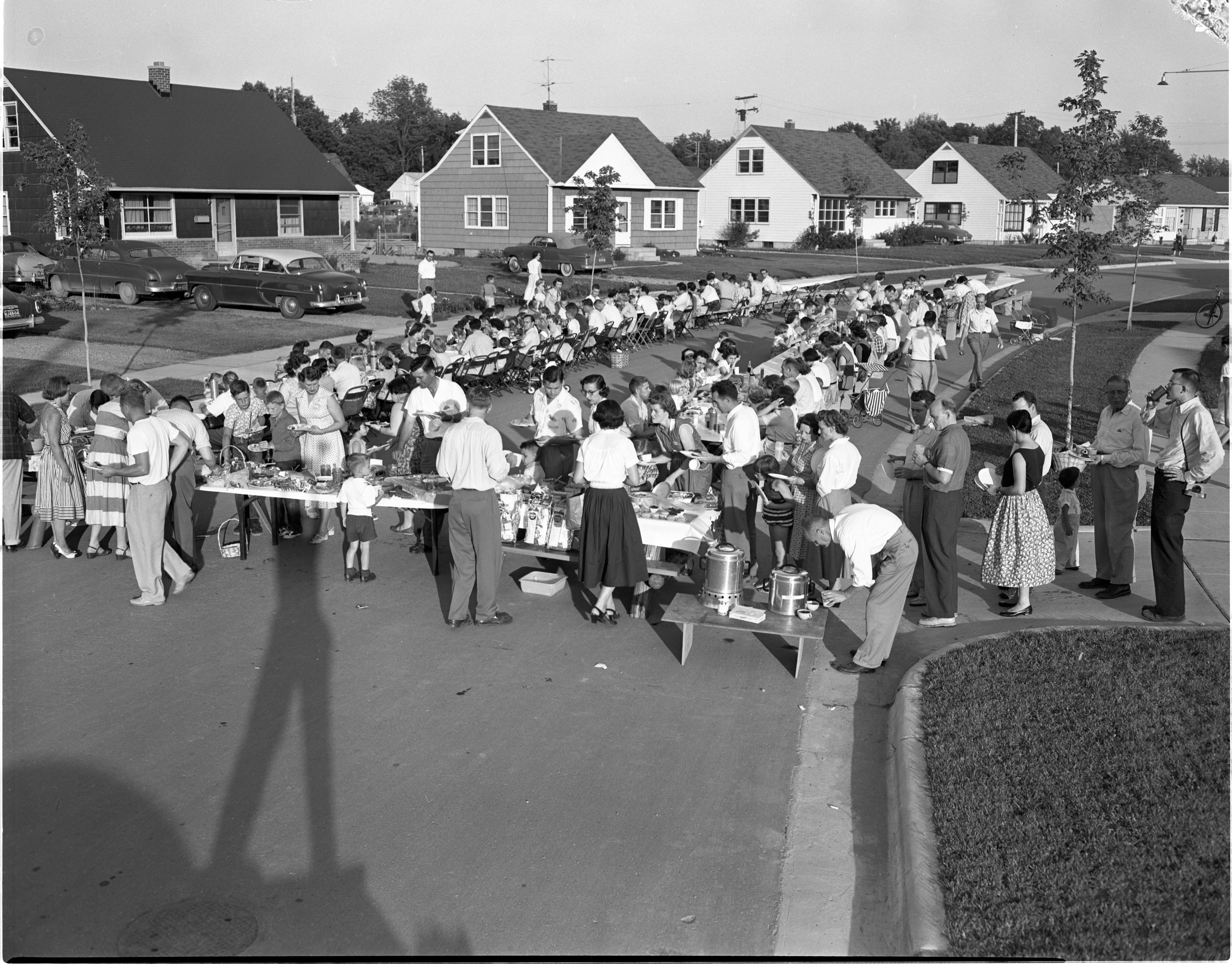 Arbordale Subdivision Neighborhood Street Picnic, June 1955 image
