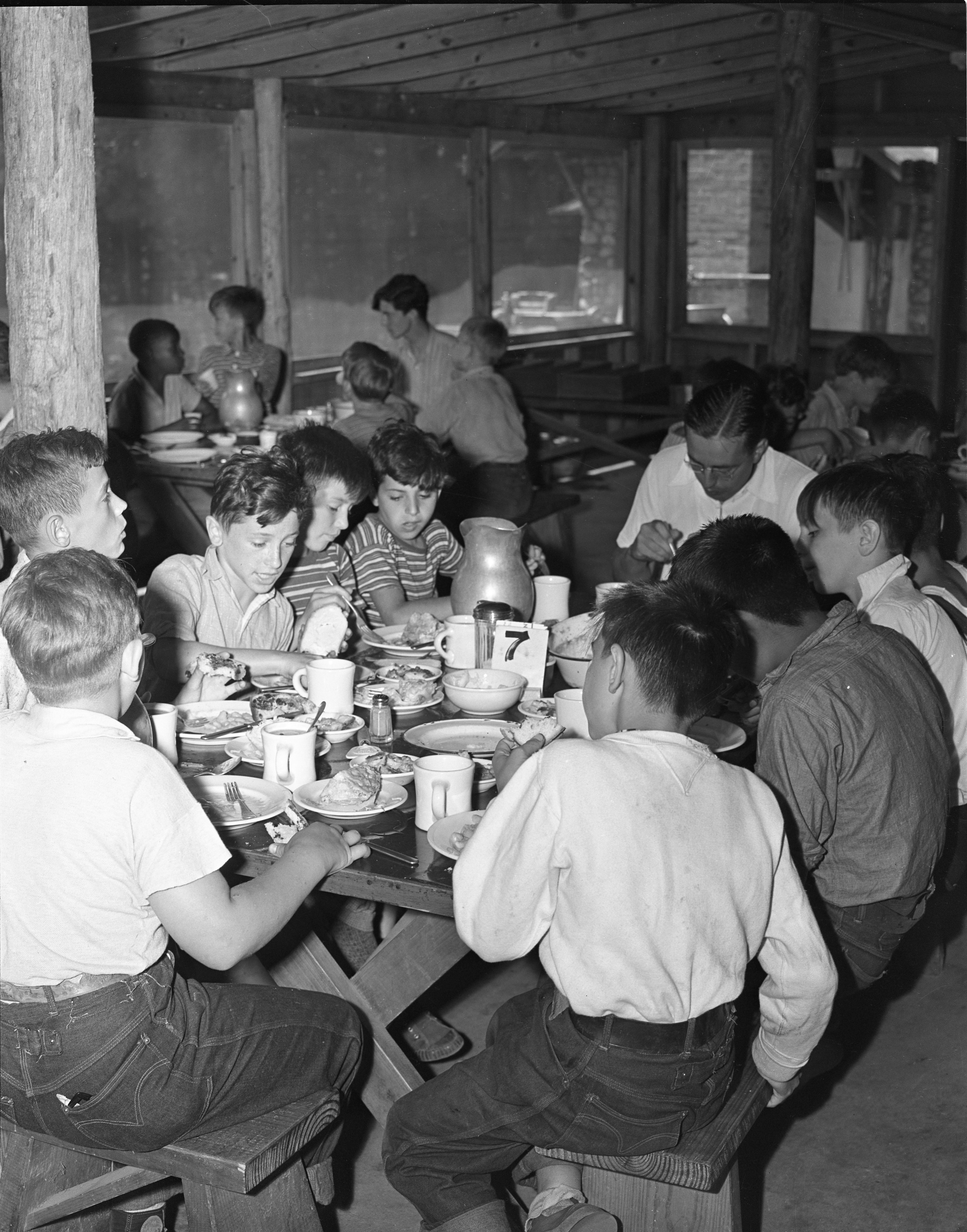 The Dining Hall At The University Of Michigan's Fresh Air Camp, July 1939 image