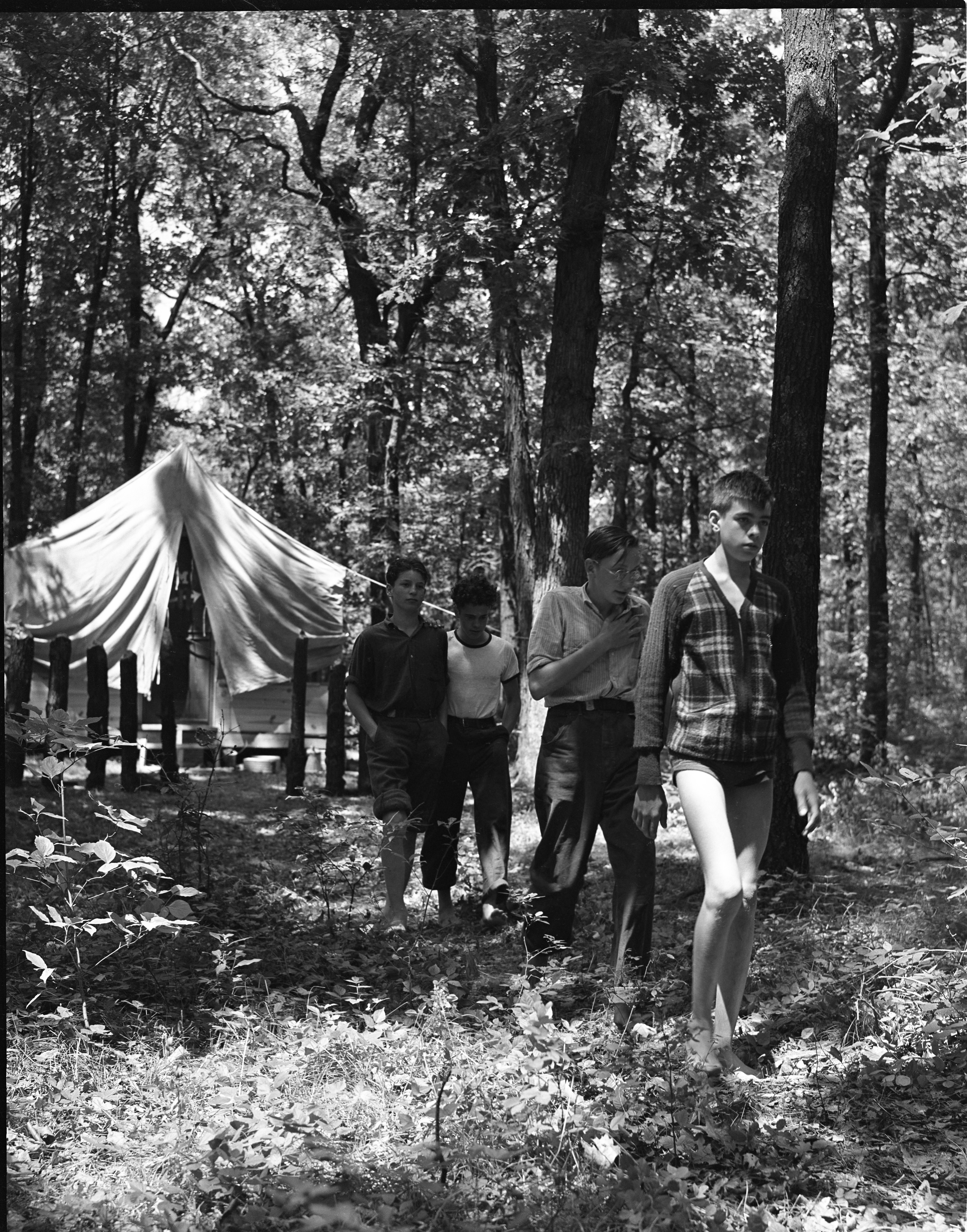 Tent And Campers At The University Of Michigan's Fresh Air Camp, July 1939 image