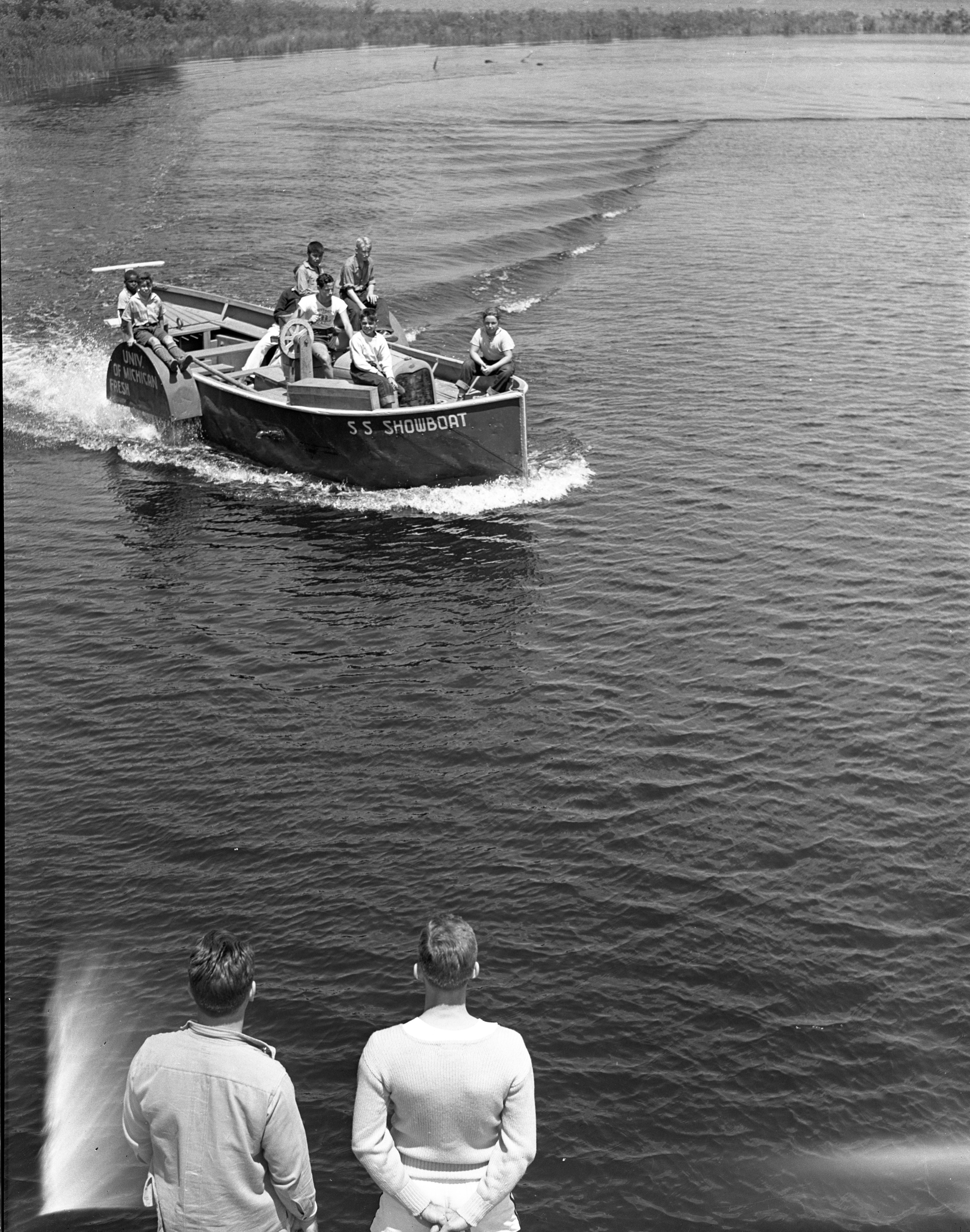 Campers From The University of Michigan's Fresh Air Camp Take A Boat Ride, July 1939 image