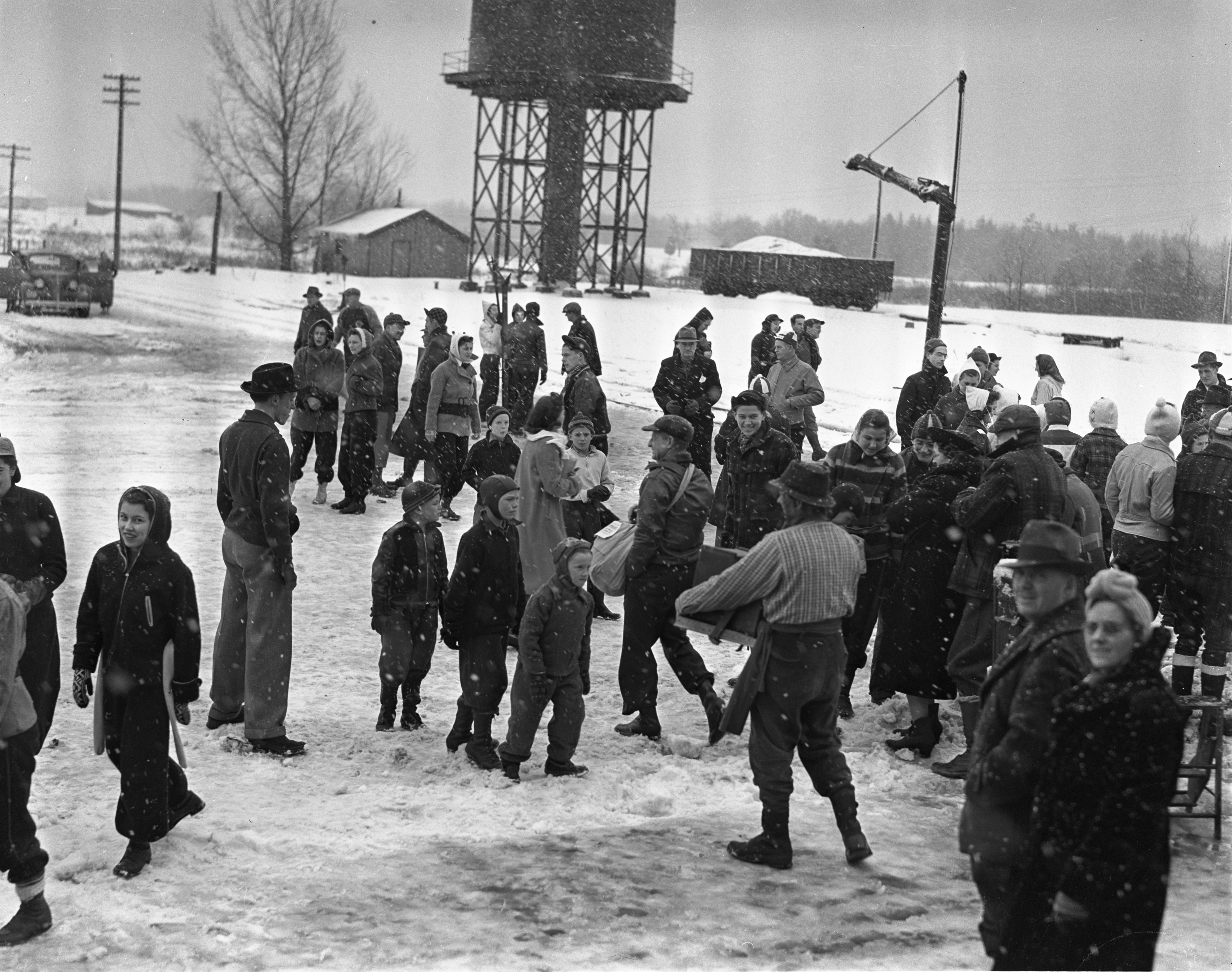 Visitors Arrive At Grayling Winter Sports Park, January 1940 image