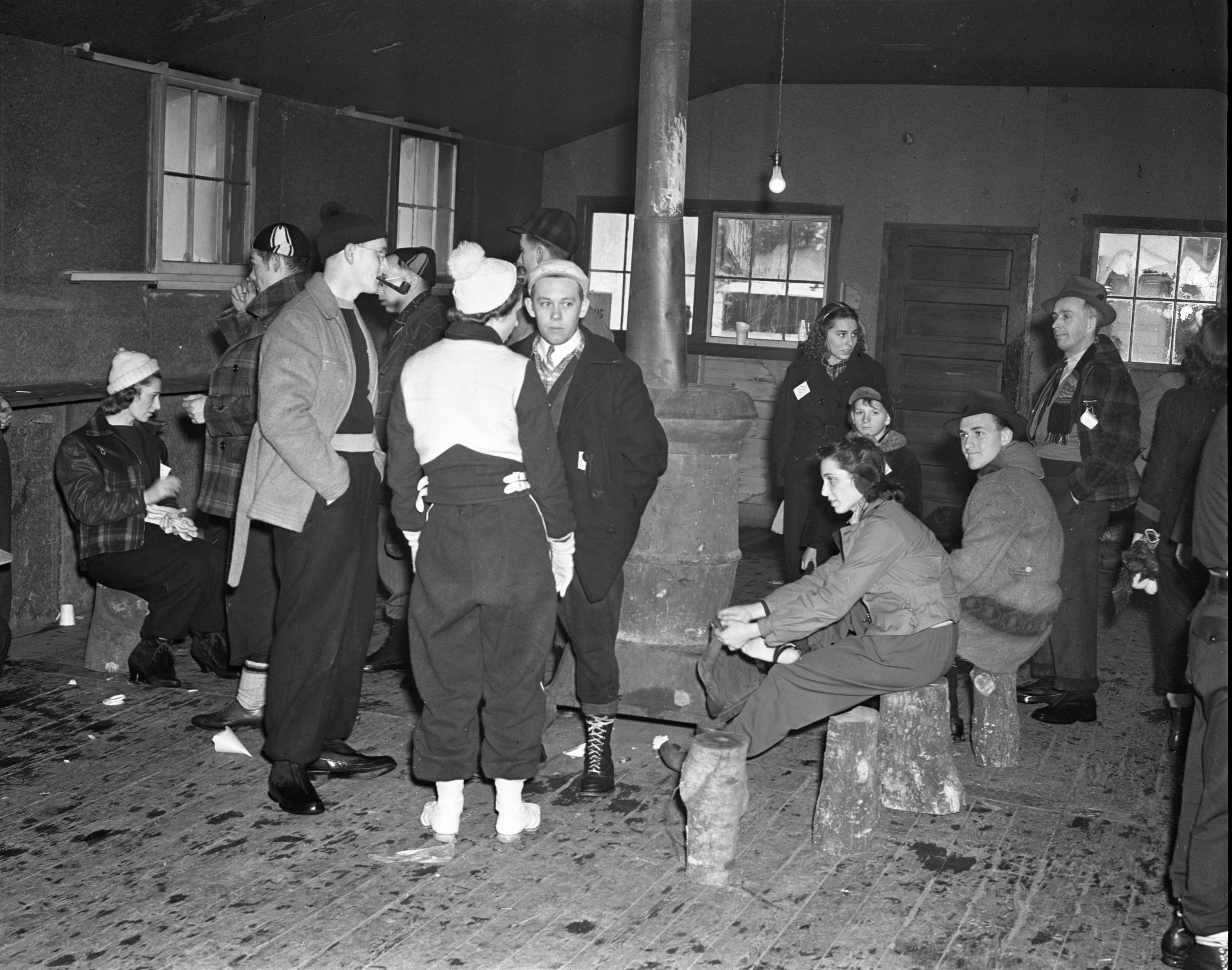 Inside A Warming House At Grayling Winter Sports Park, January 1940 image