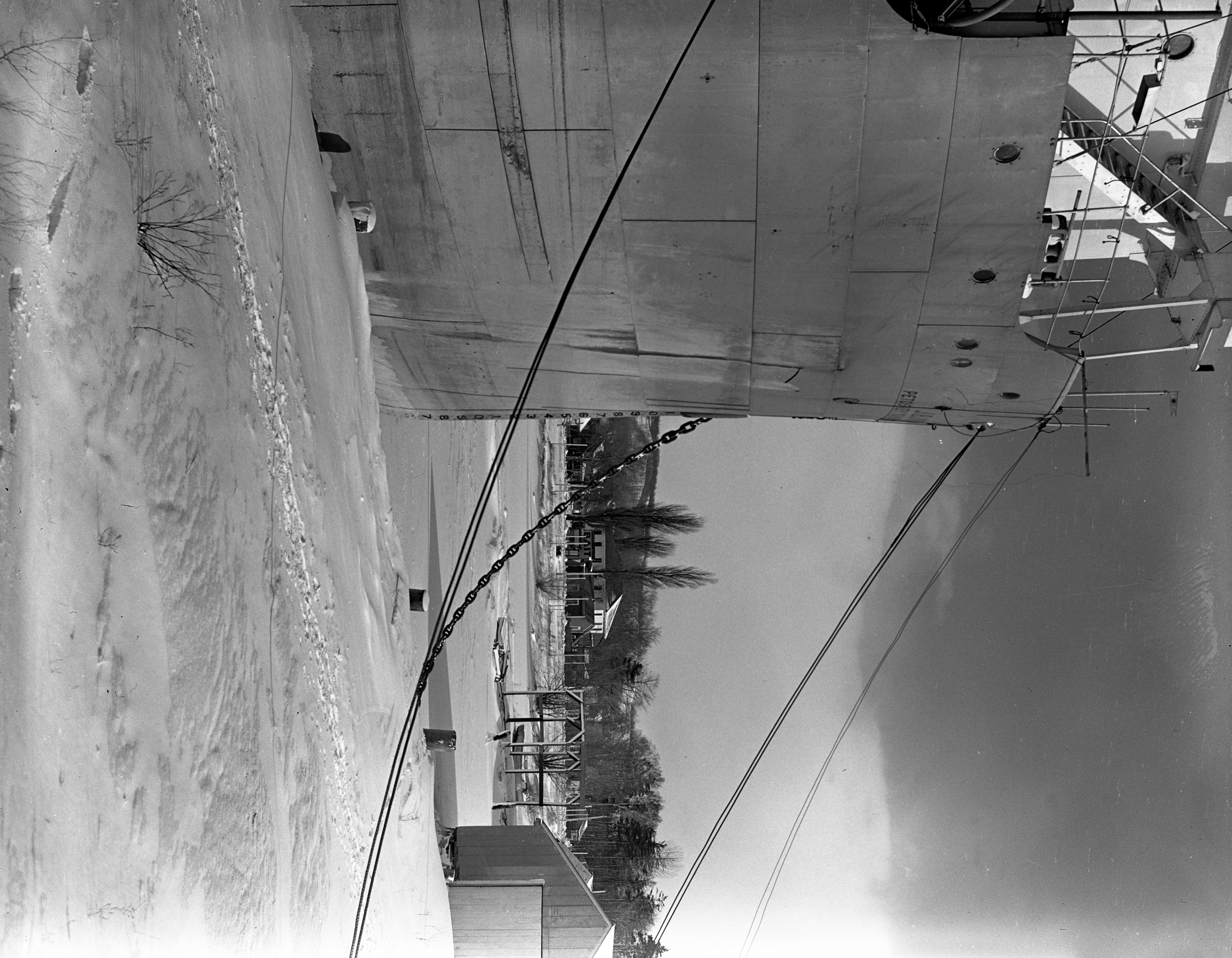 J.B. John Freighter In Frozen Lake Charlevoix, January 1940 image