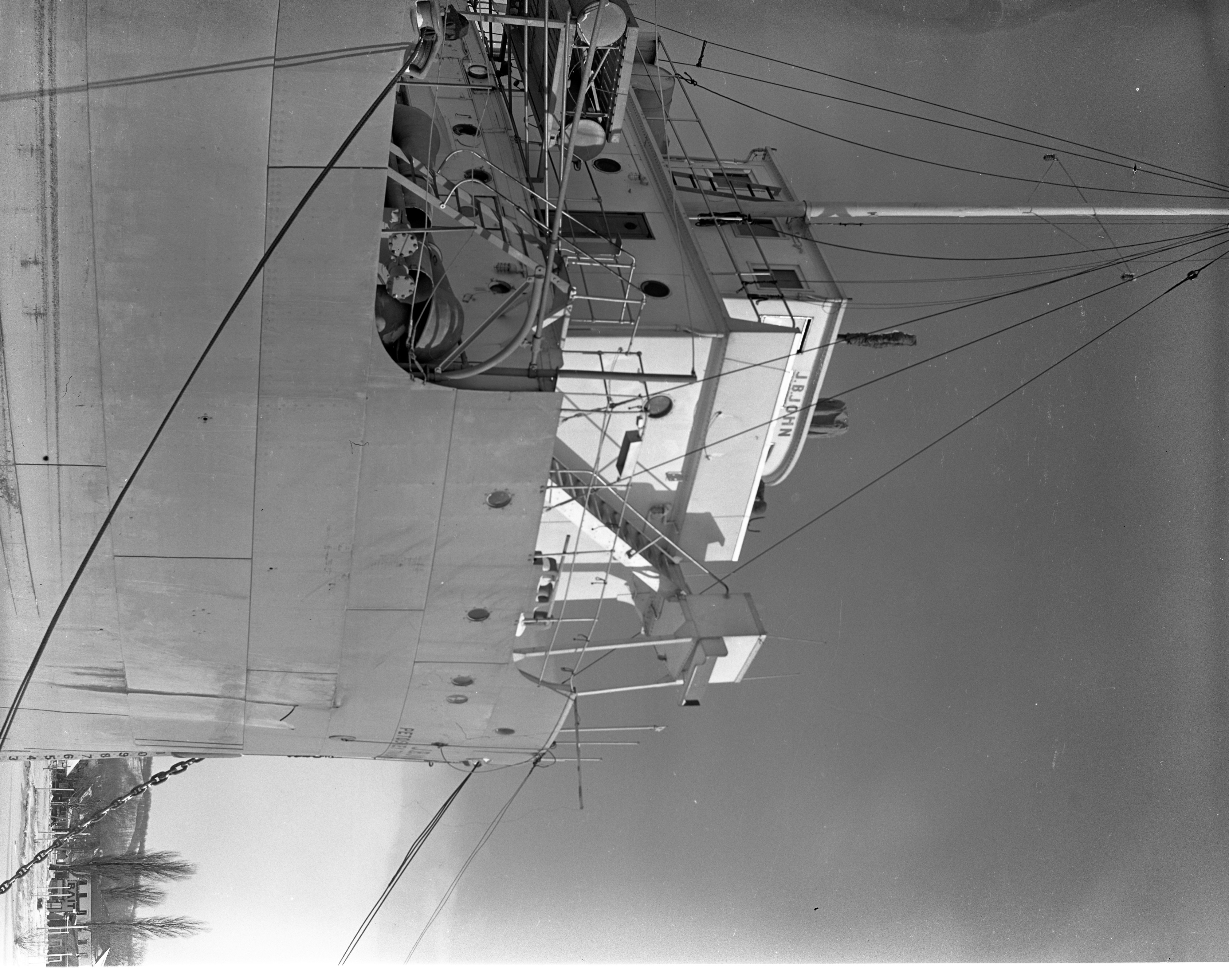 Bow Of J.B. John Freighter In Frozen Lake Charlevoix, January 1940 image